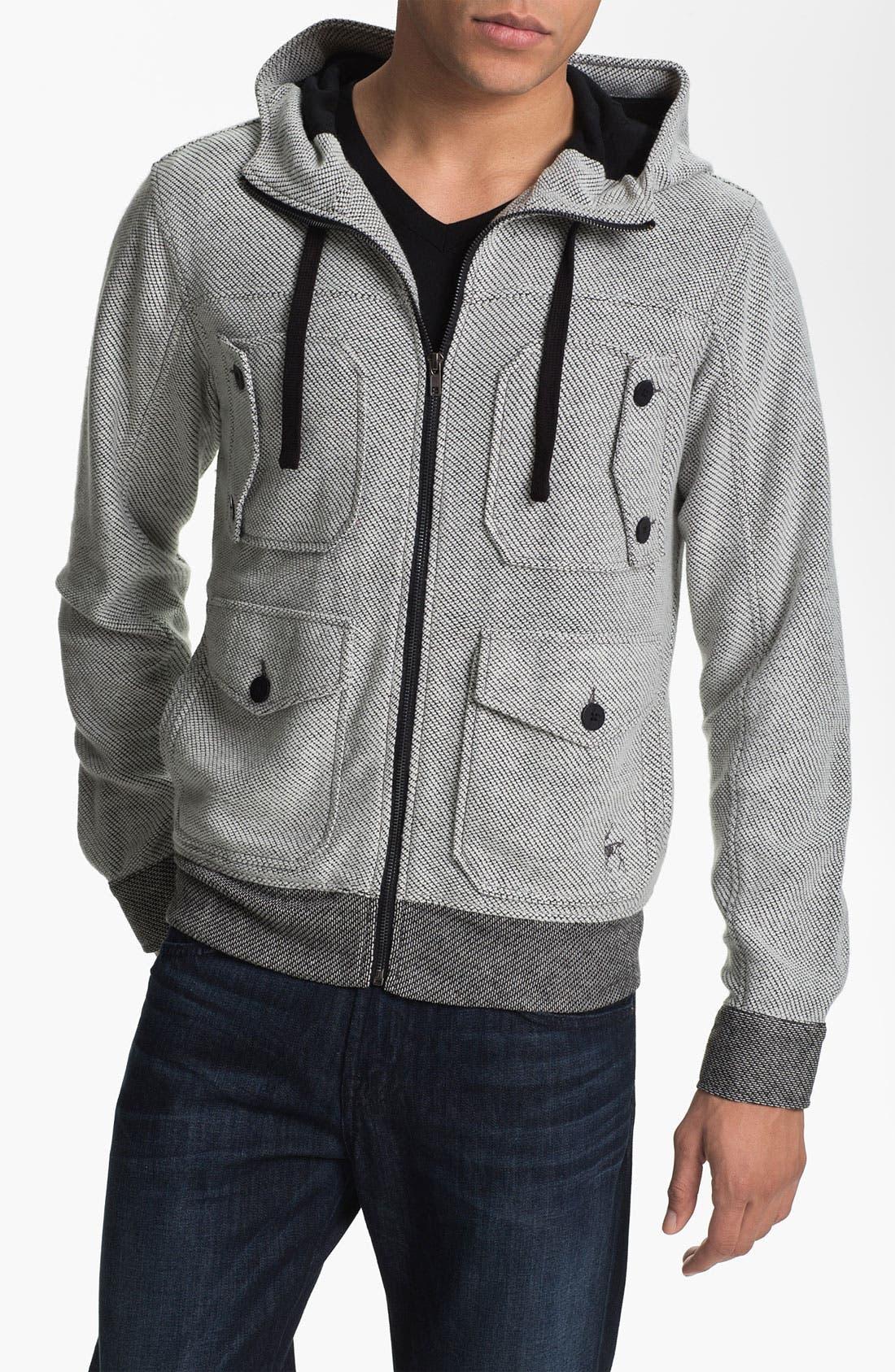 Alternate Image 1 Selected - Kane & Unke Hooded Knit Jacket