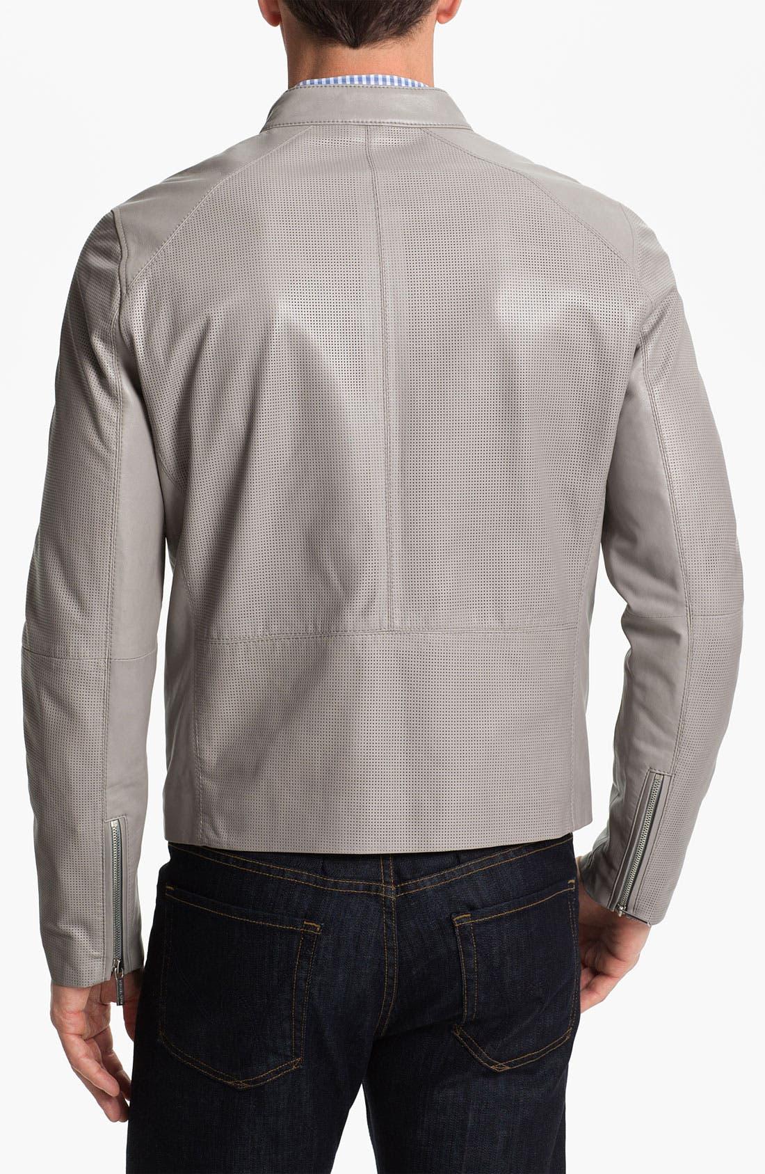 Alternate Image 2  - Michael Kors Leather Moto Jacket