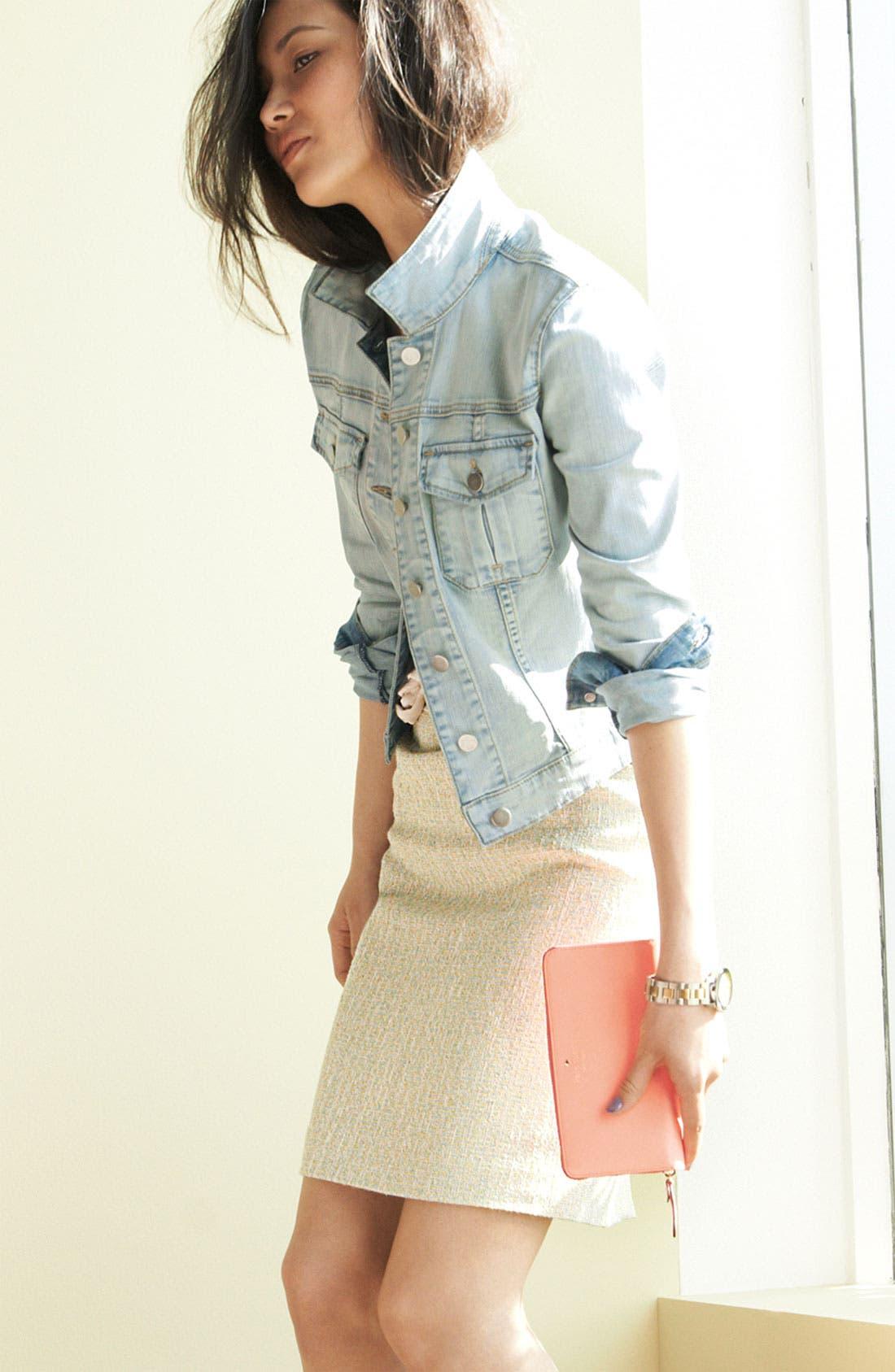 Alternate Image 1 Selected - KUT from the Kloth Denim Jacket & Halogen Tweed Skirt