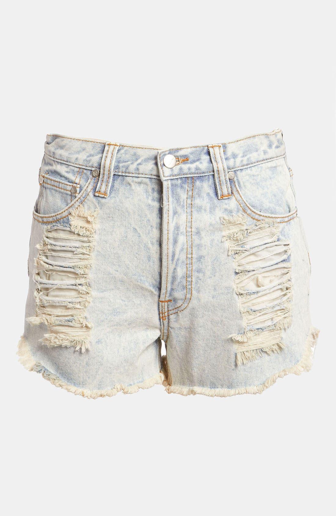 Main Image - MINKPINK 'Slasher Flick' Acid Wash Shorts