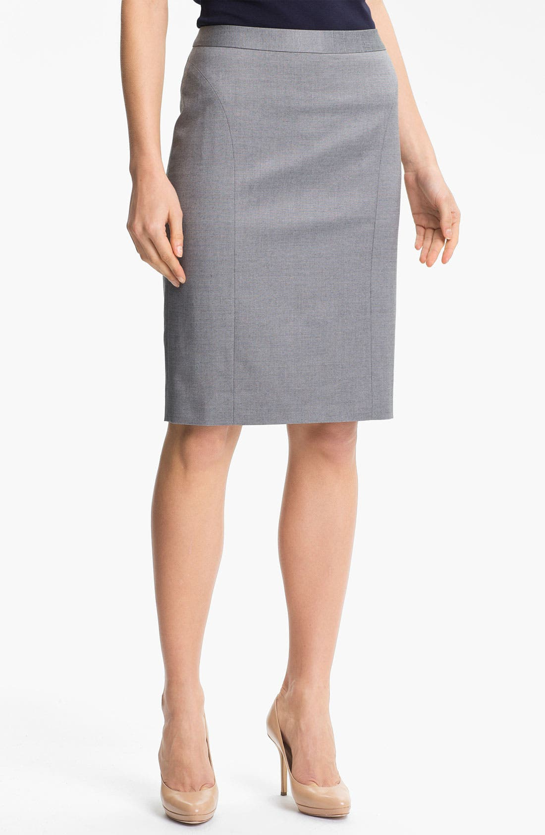 Alternate Image 1 Selected - Classiques Entier 'Platine Weave' Skirt