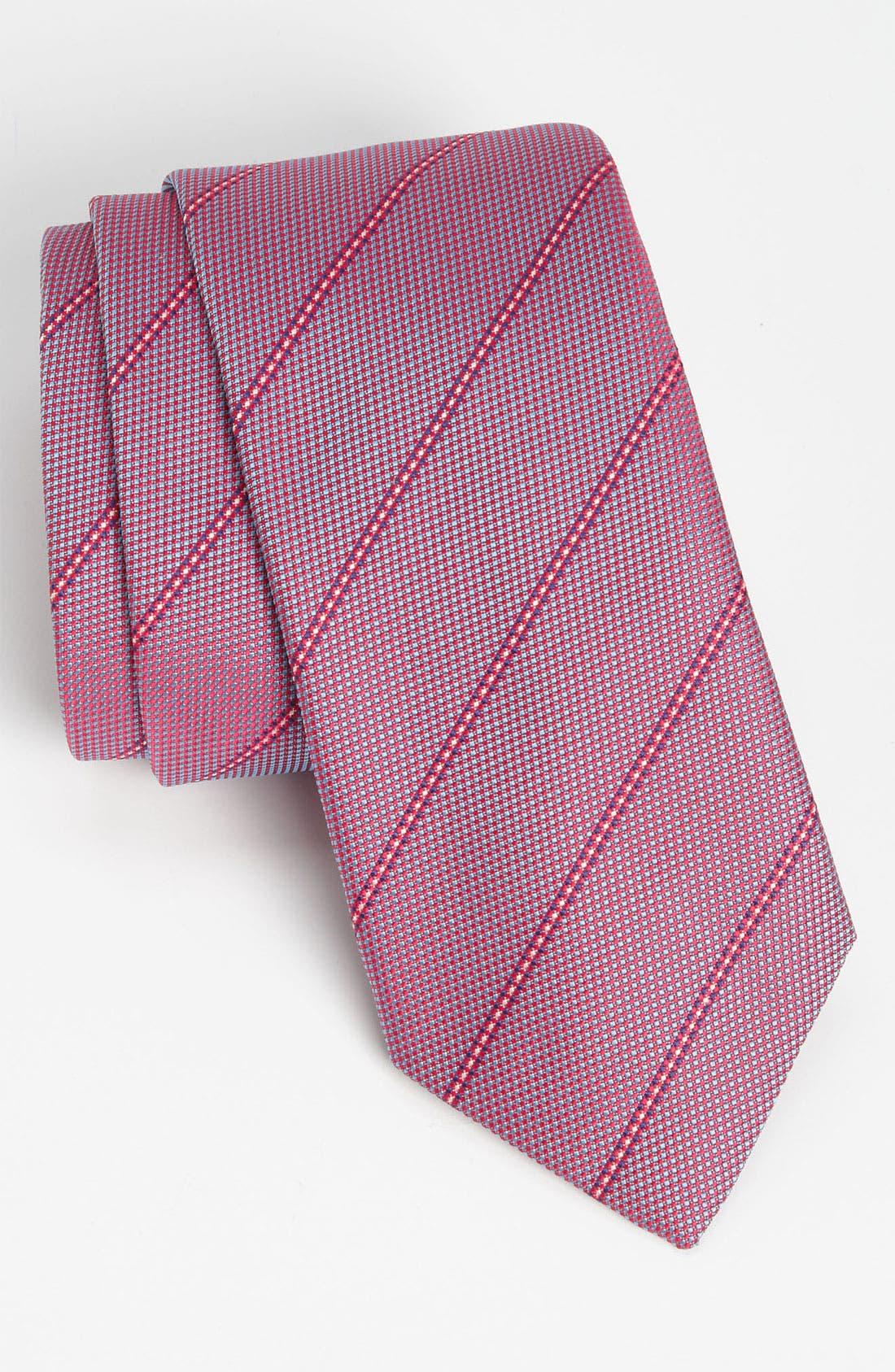 Main Image - Thomas Pink 'Turner Stripe' Woven Silk Tie
