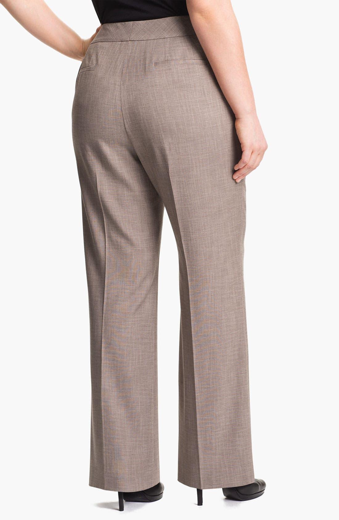 Alternate Image 2  - Sejour 'Metric' Curvy Fit Trousers (Plus Size)