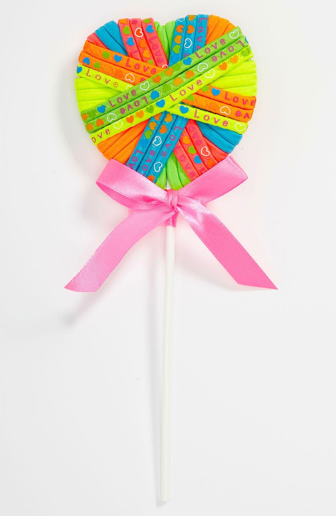 Alternate Image 1 Selected - Capelli of New York Heart Shape Lollipop Ponytail Holder Set (Girls)