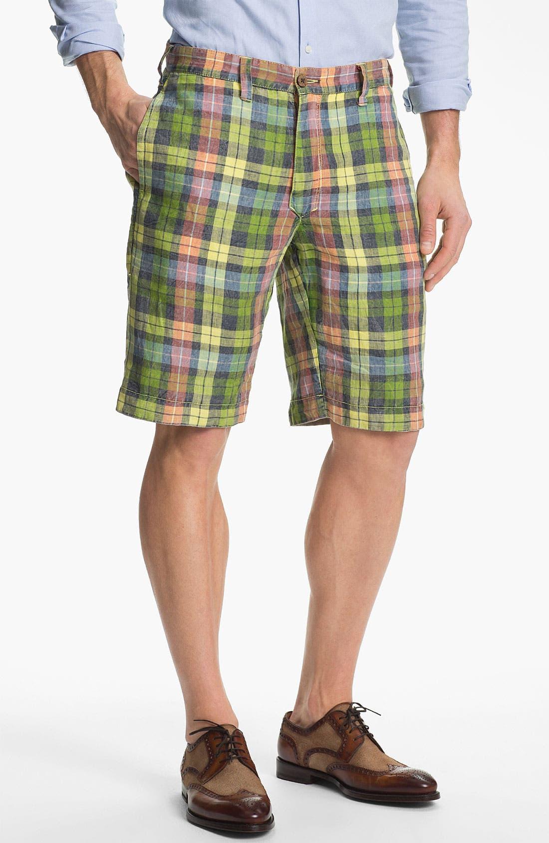 Alternate Image 1 Selected - Tailor Vintage Reversible Linen Shorts