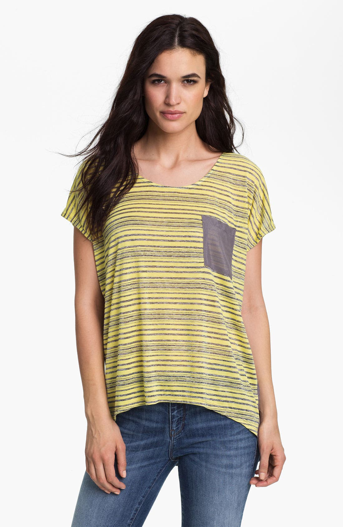 Alternate Image 1 Selected - MOD.lusive One Pocket Mixed Media Tee