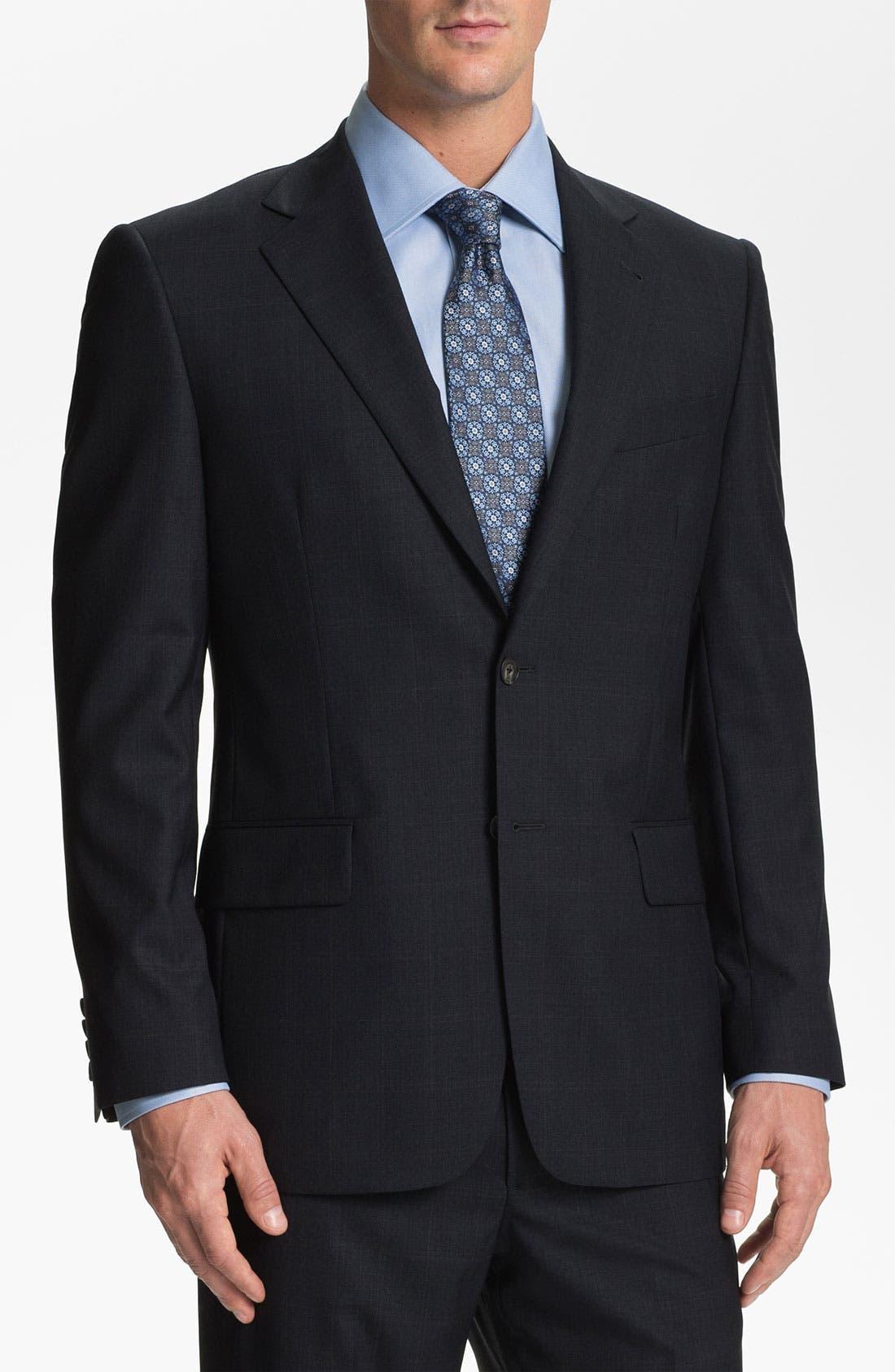 Alternate Image 4  - Joseph Abboud Windowpane Wool Suit