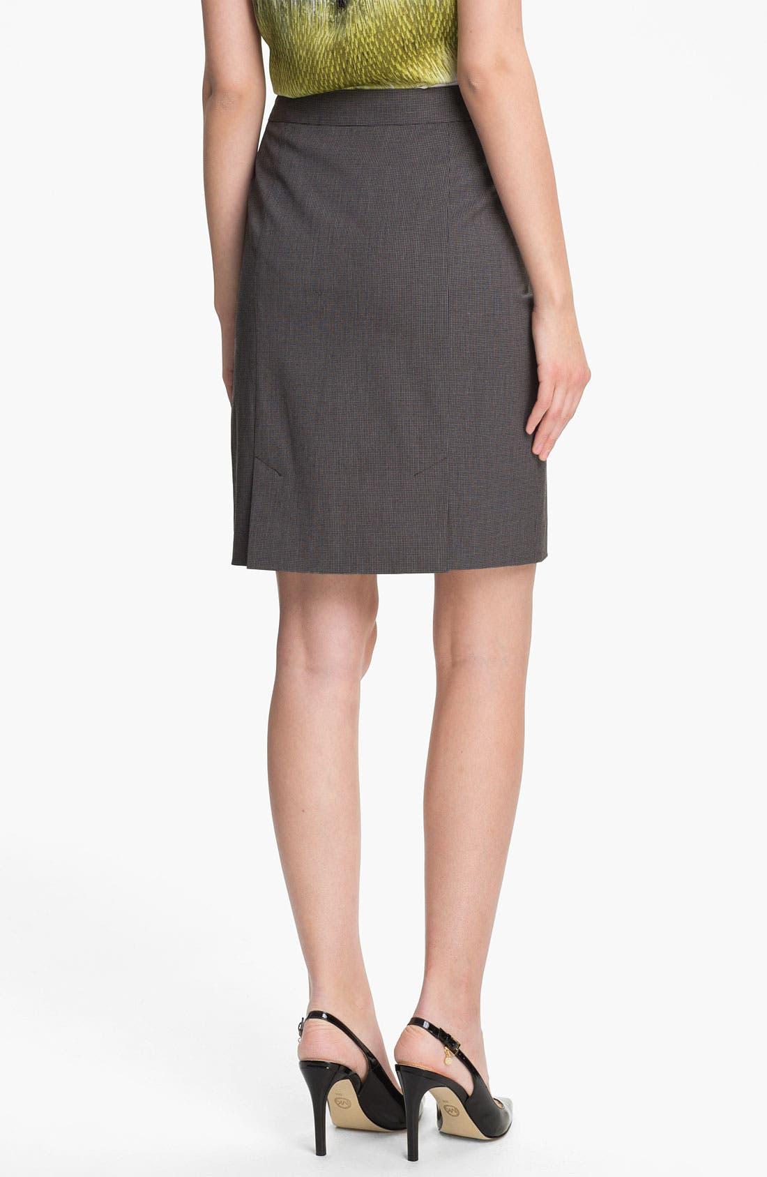 Alternate Image 2  - Halogen® Mini Check Skirt
