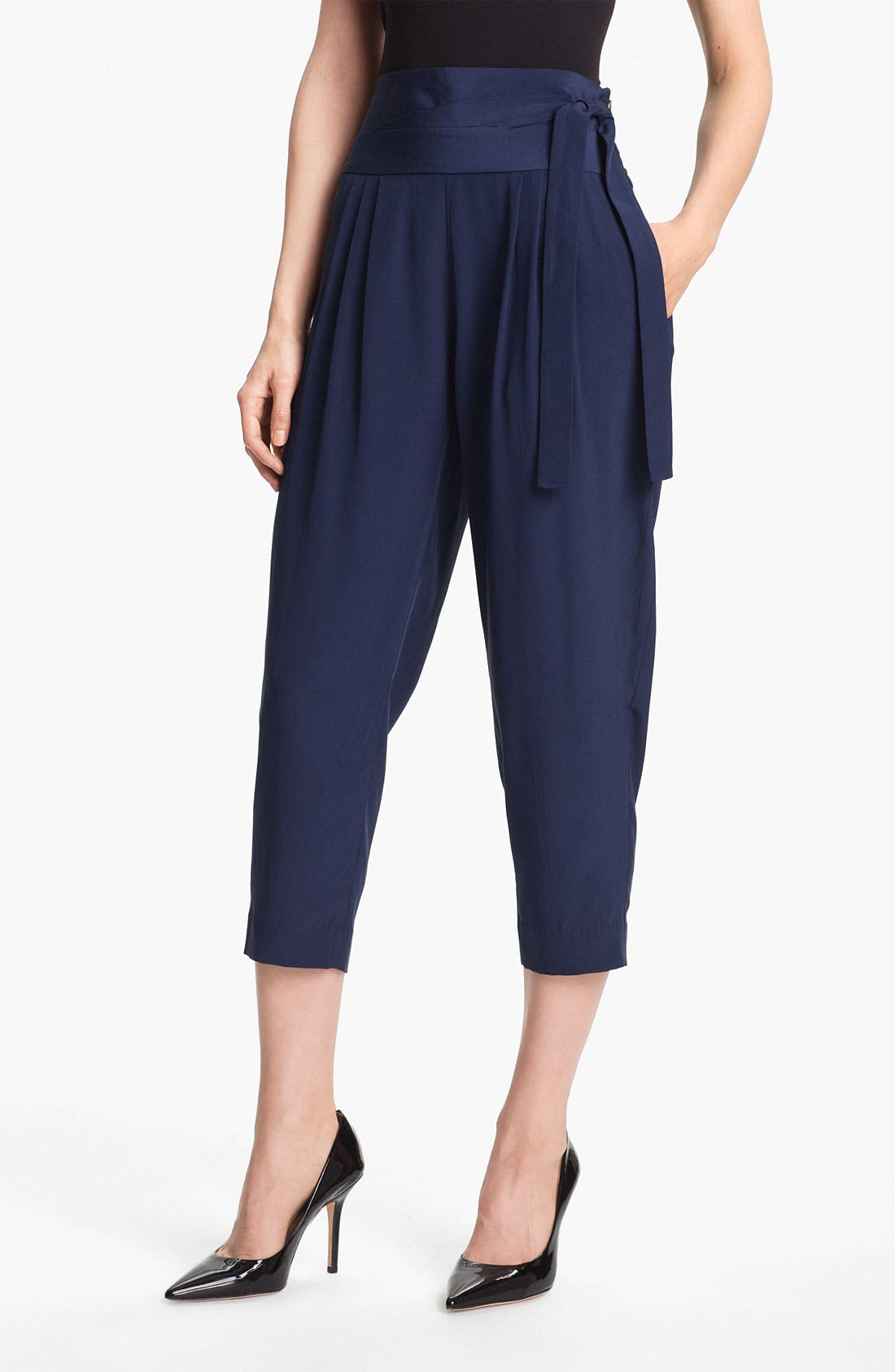 Alternate Image 1 Selected - Diane von Furstenberg 'Keaka' Silk Capri Pants