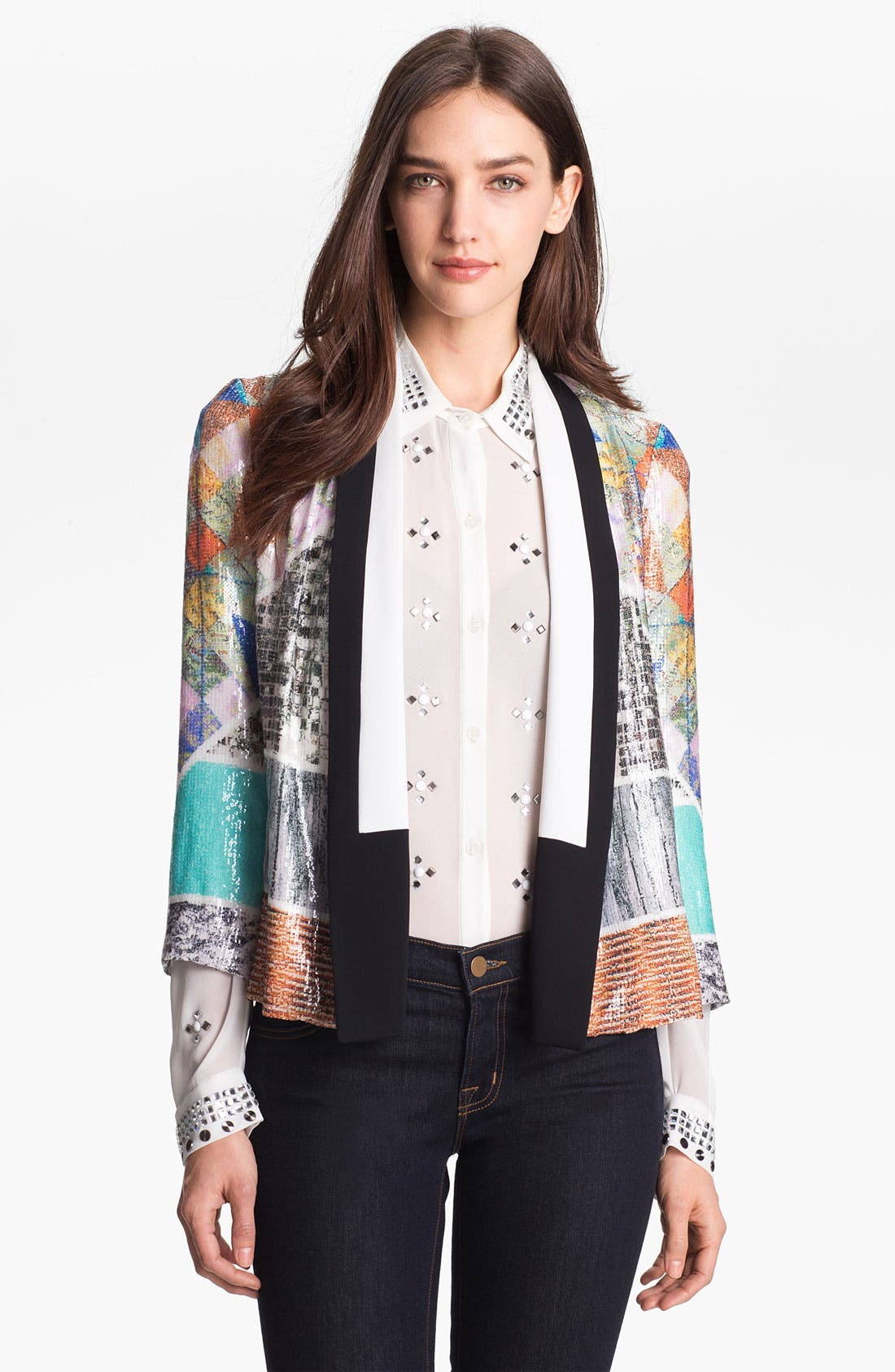 Alternate Image 1 Selected - Clover Canyon 'Roadside Quilt' Sequin Jacket