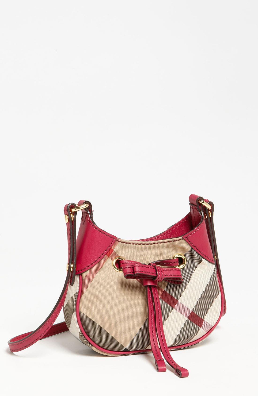 Alternate Image 1 Selected - Burberry 'Ruby' Mini Shoulder Bag (Girls)