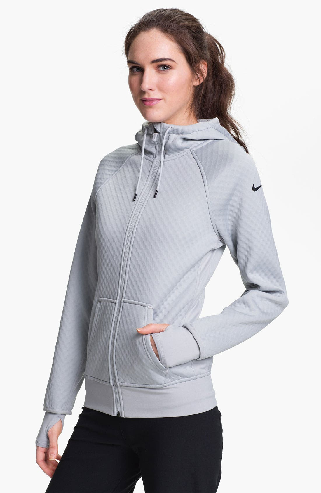 Alternate Image 1 Selected - Nike 'All Time Sphere' Full Zip Hoodie