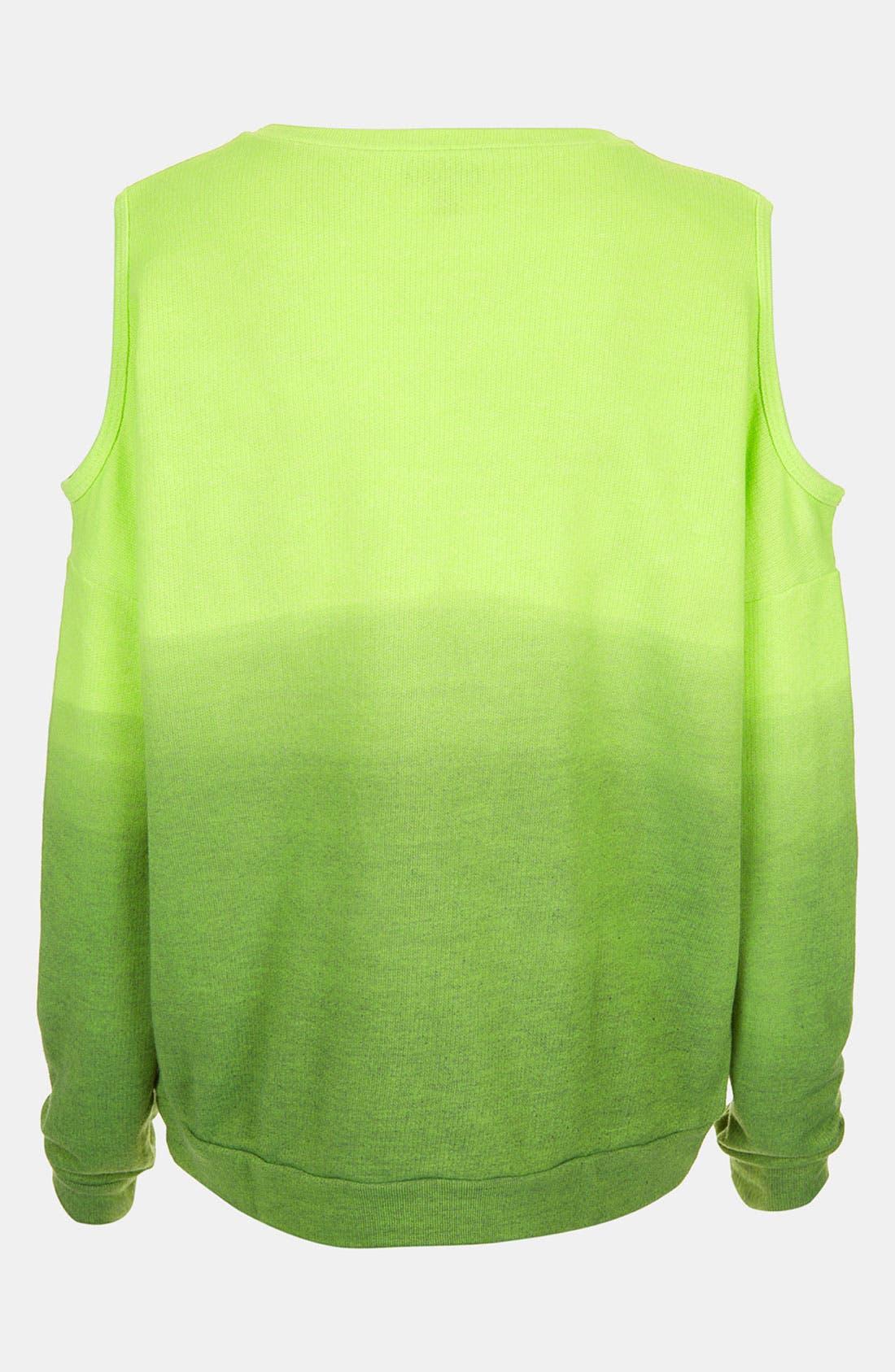 Alternate Image 2  - Topshop Dip Dye Cutout Sweatshirt