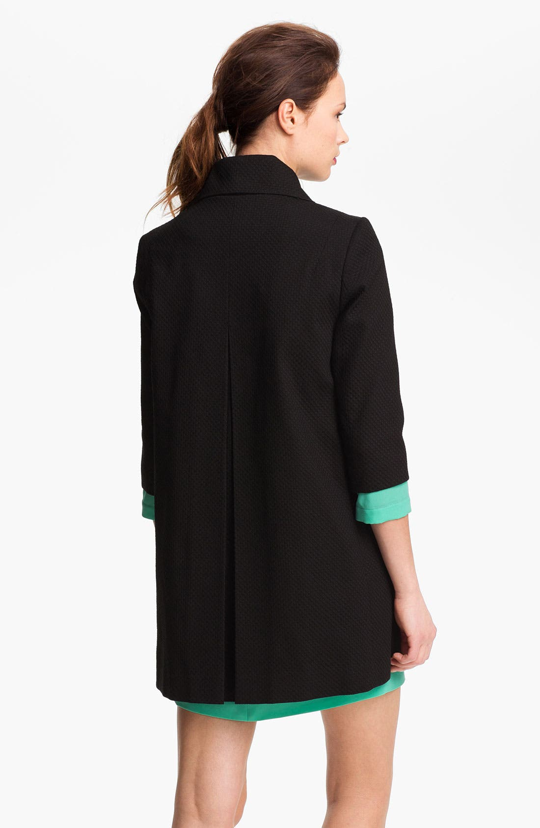 Alternate Image 3  - Tahari Three Quarter Sleeve Walking Coat