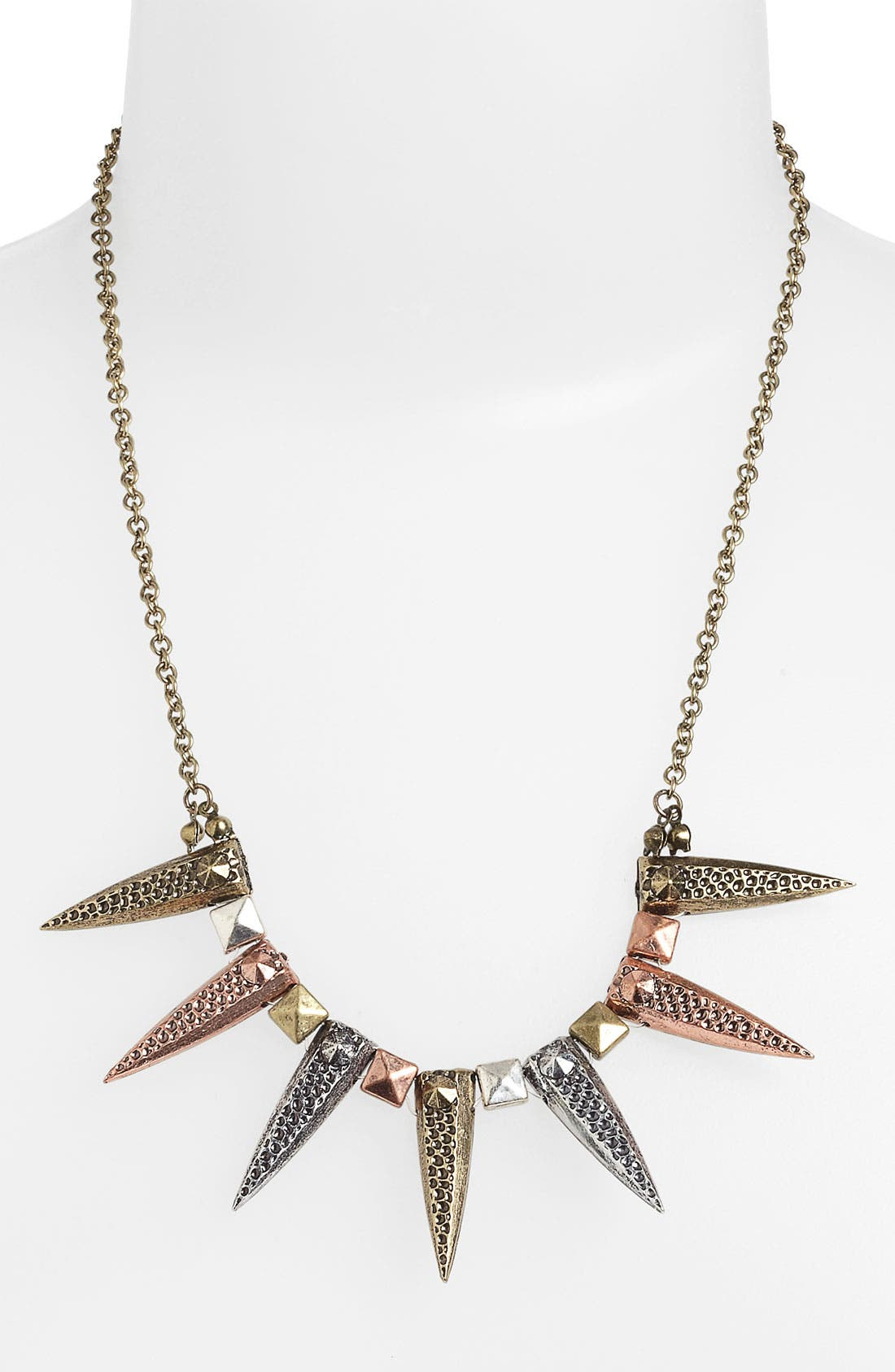 Main Image - Statements by DCK Mixed Metal Spike Necklace