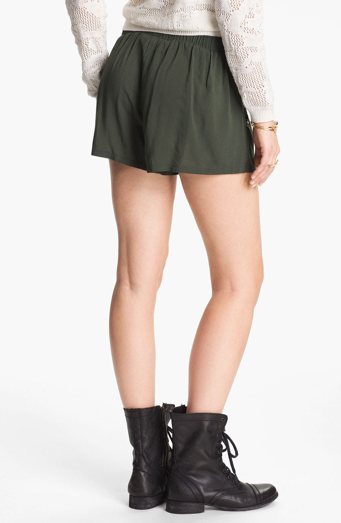 Alternate Image 2  - h.i.p. Studded High Waist Shorts (Juniors)