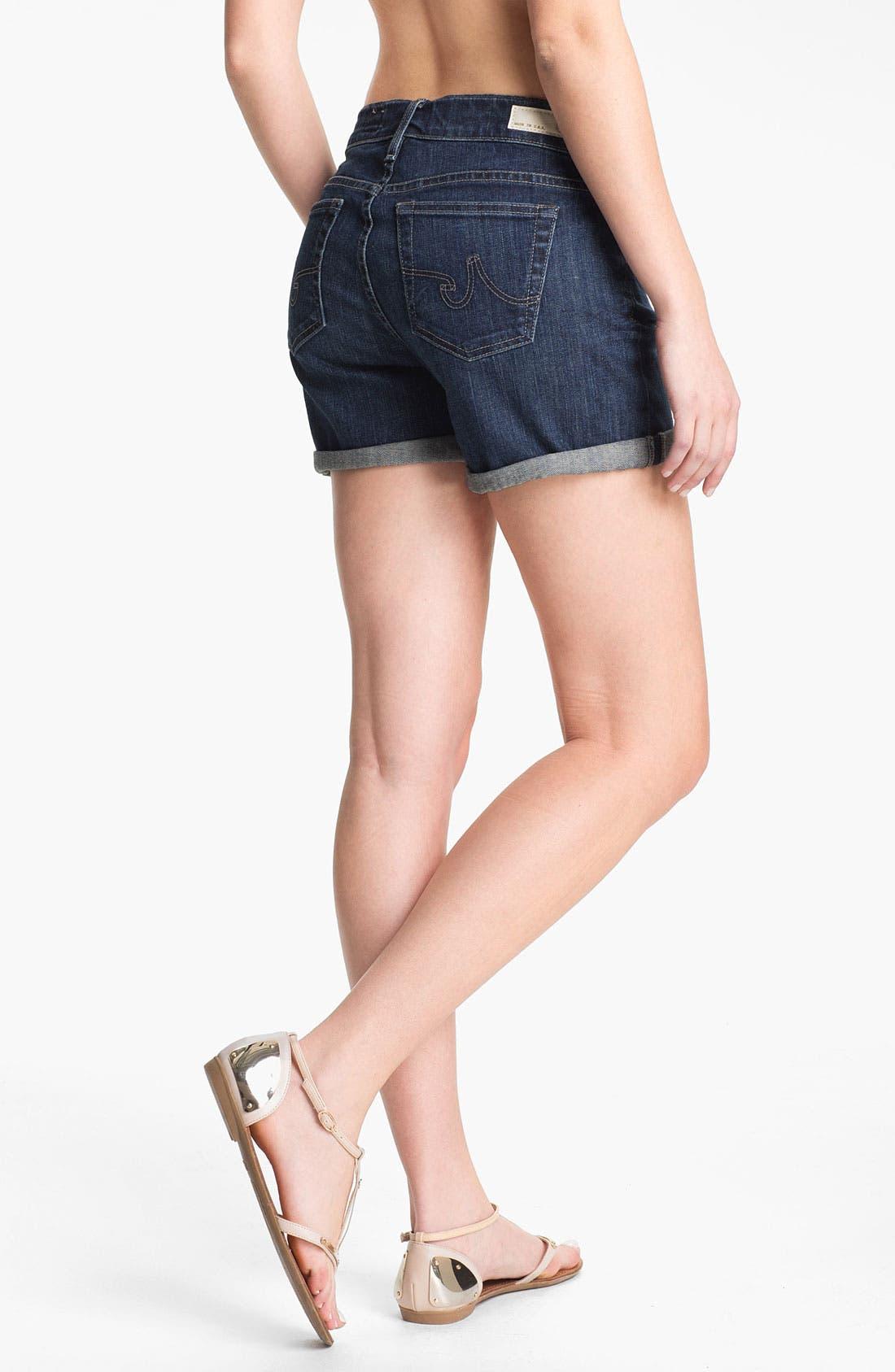 Alternate Image 2  - AG 'Hailey' Cuff Denim Shorts (Four Year Brisk Blue)