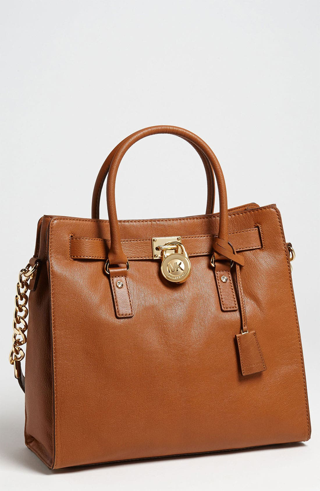 Alternate Image 1 Selected - MICHAEL Michael Kors 'Hamilton Gold Plate Chain - Large' Tote