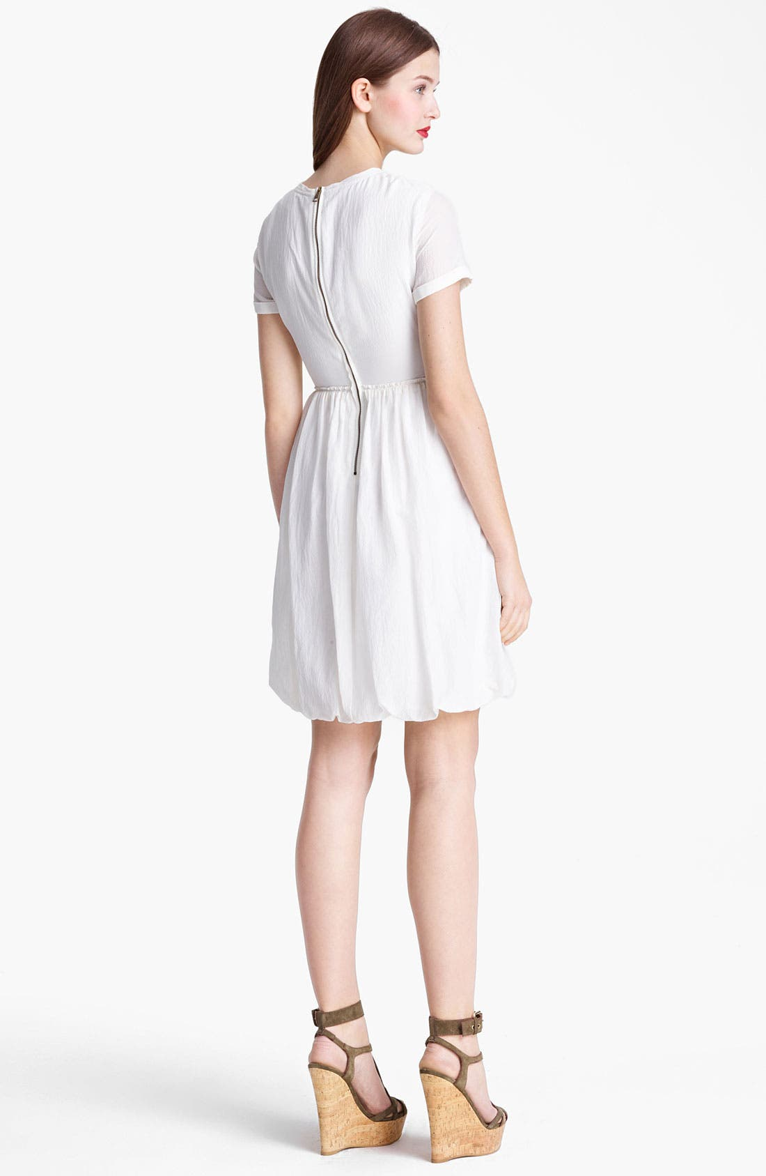 Alternate Image 2  - Burberry Brit Mulberry Silk Dress (Online Only)