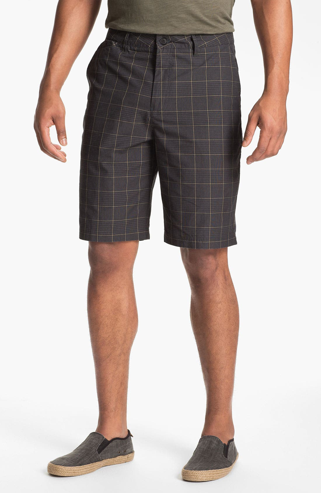 Main Image - Quiksilver Waterman Collection 'Sharkbait' Flat Front Shorts