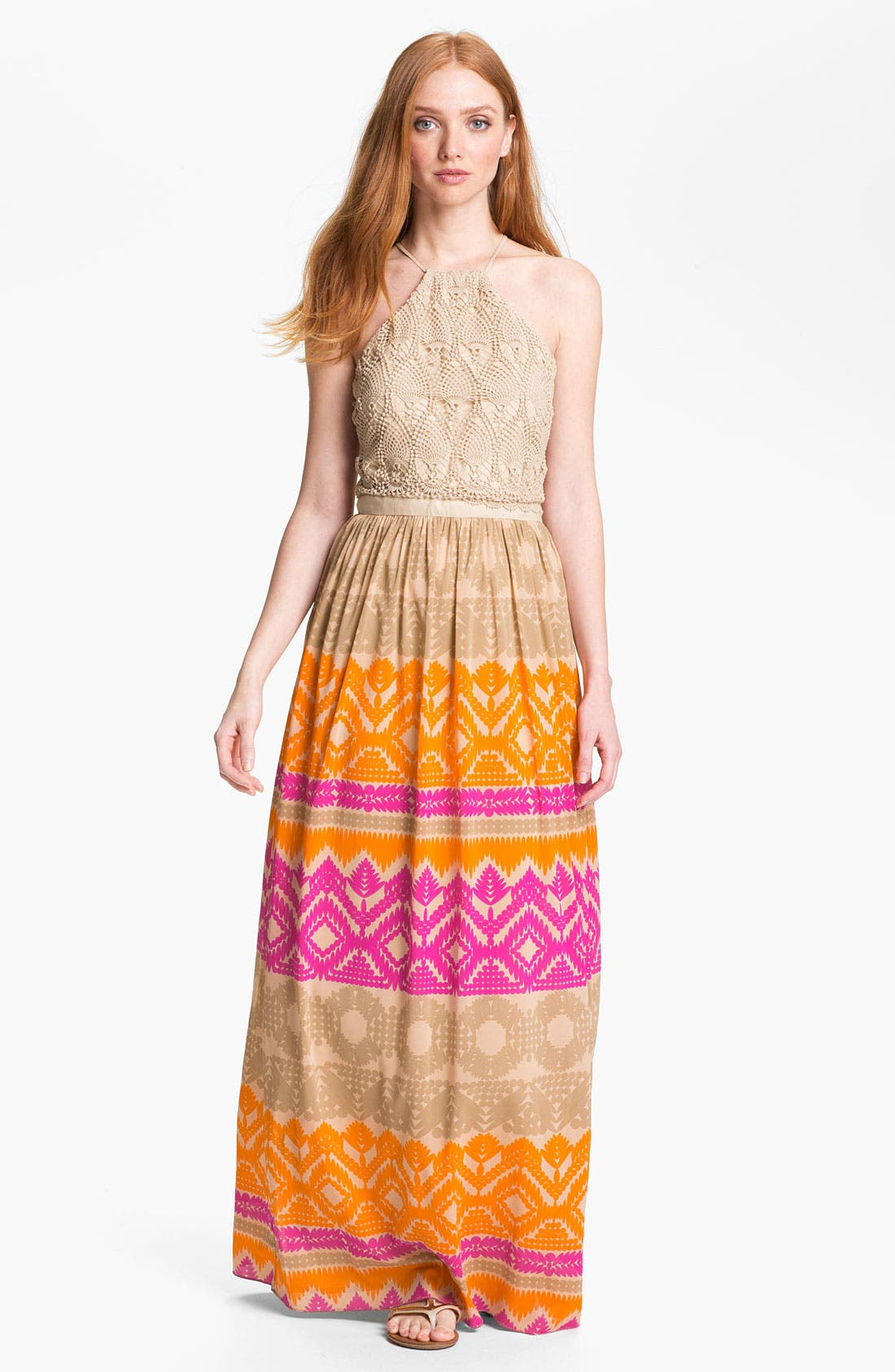 Main Image - Trina Turk 'Anargosa' Stretch Silk Maxi Dress