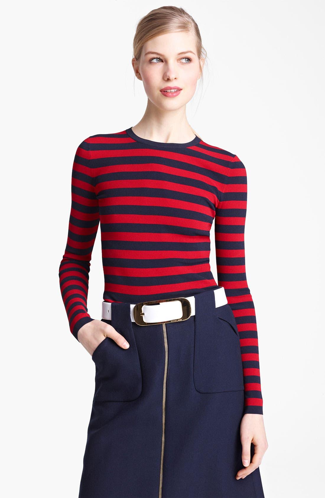 Alternate Image 2  - Michael Kors Stripe Matte Jersey Top