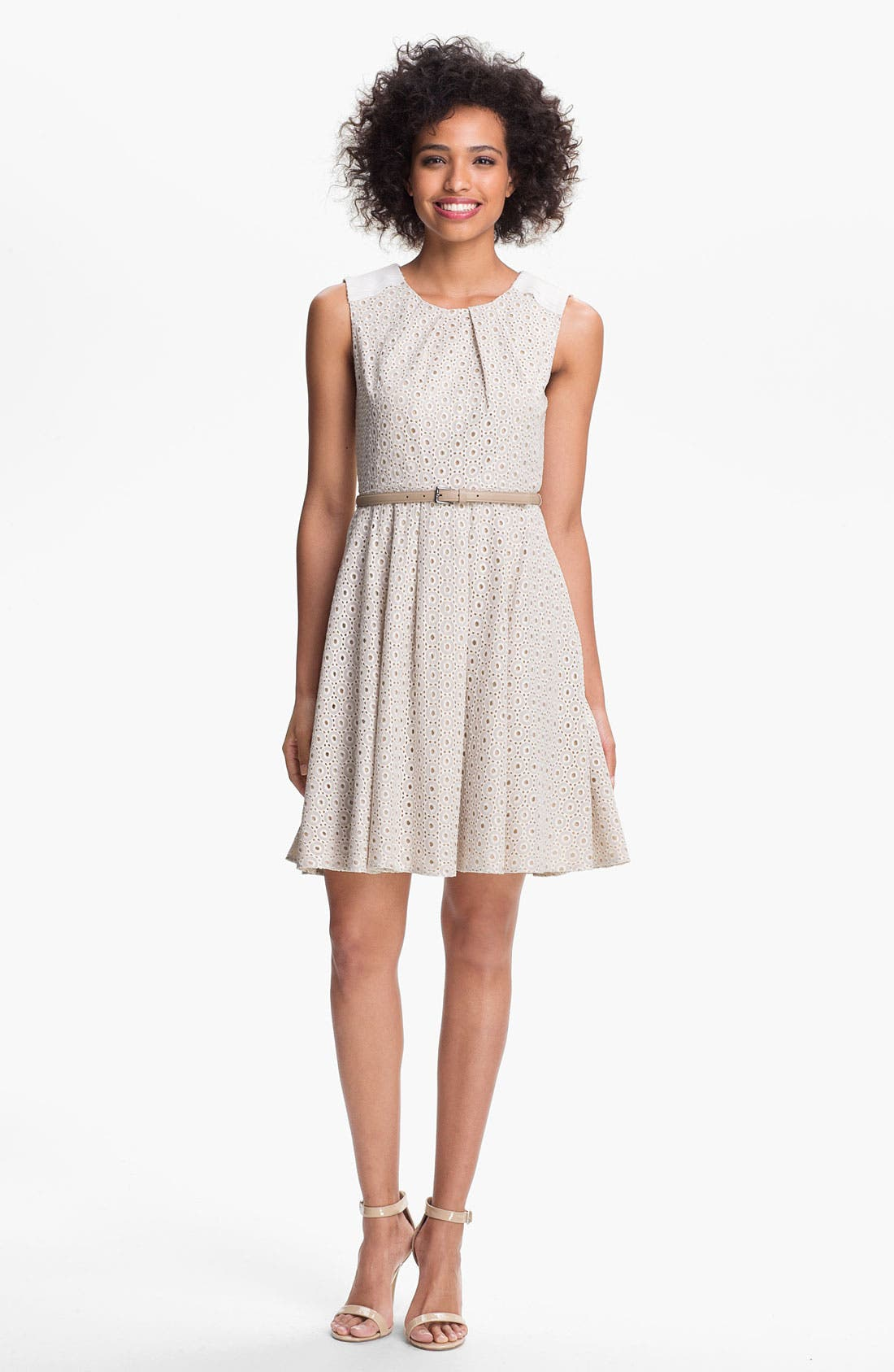 Alternate Image 1 Selected - Vince Camuto Lace Fit & Flare Dress