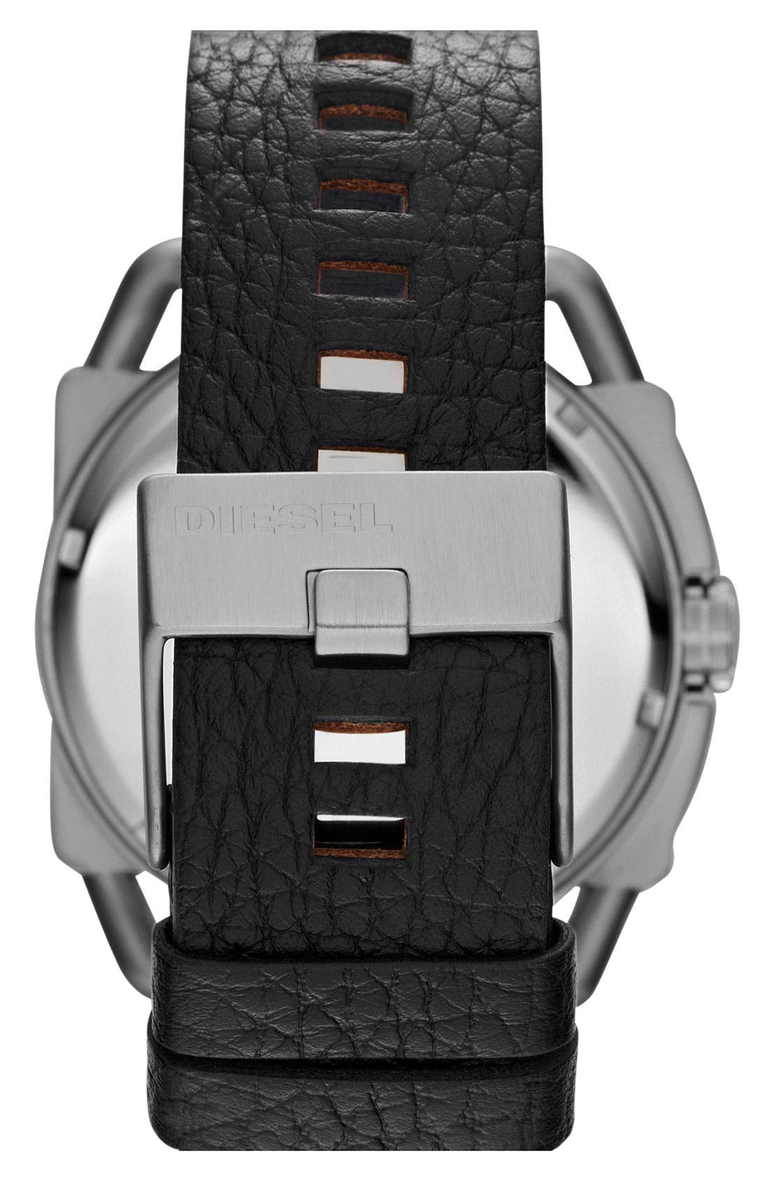 Alternate Image 3  - DIESEL® 'Descender' Leather Strap Watch, 50mm