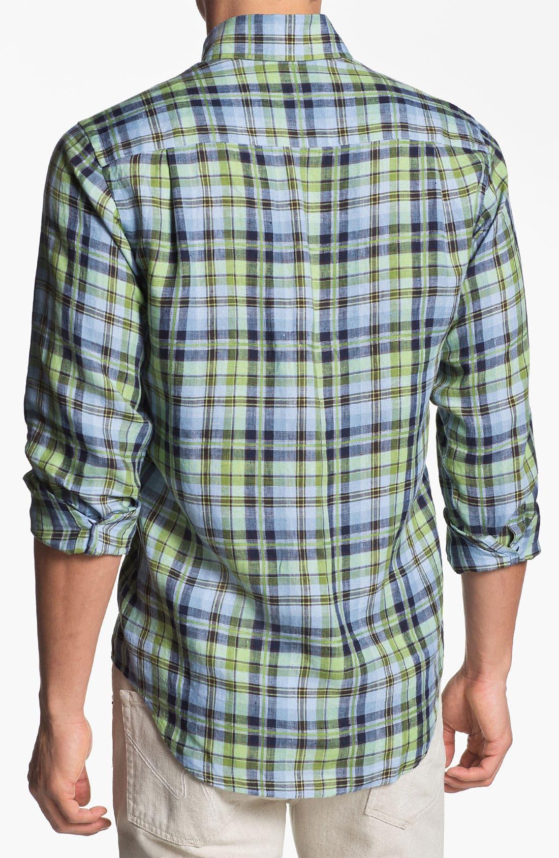 Alternate Image 2  - Robert Talbott Regular Fit Linen Sport Shirt