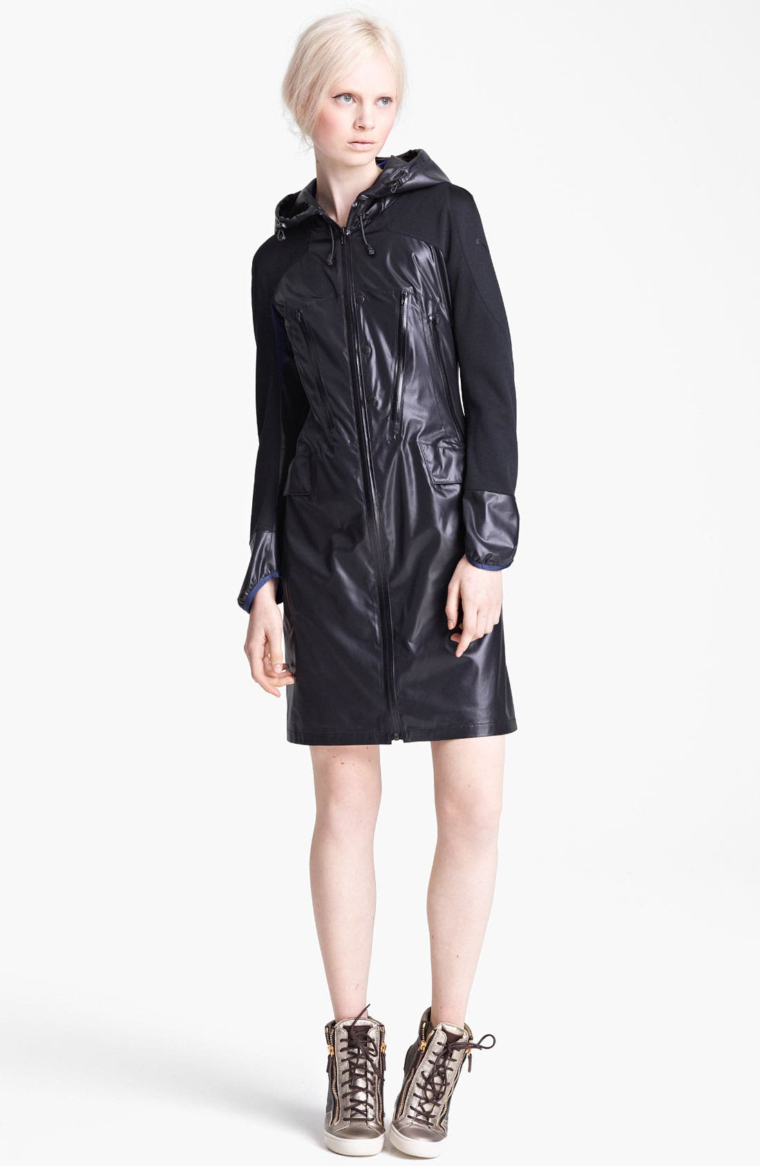 Alternate Image 1 Selected - Junya Watanabe Hooded Ripstop Nylon Coat