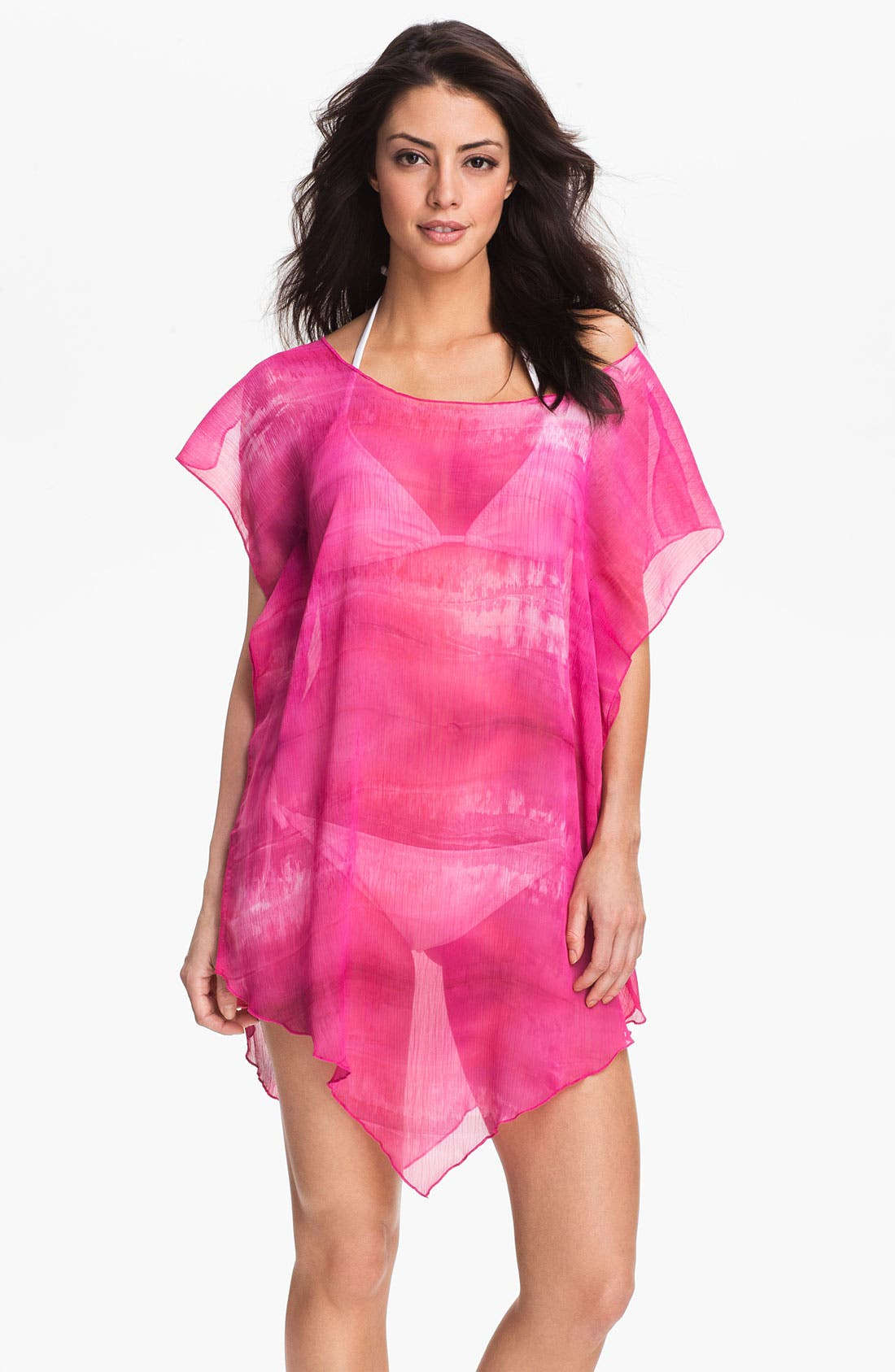 Alternate Image 1 Selected - Becca 'Watercolor' Tunic Cover-Up