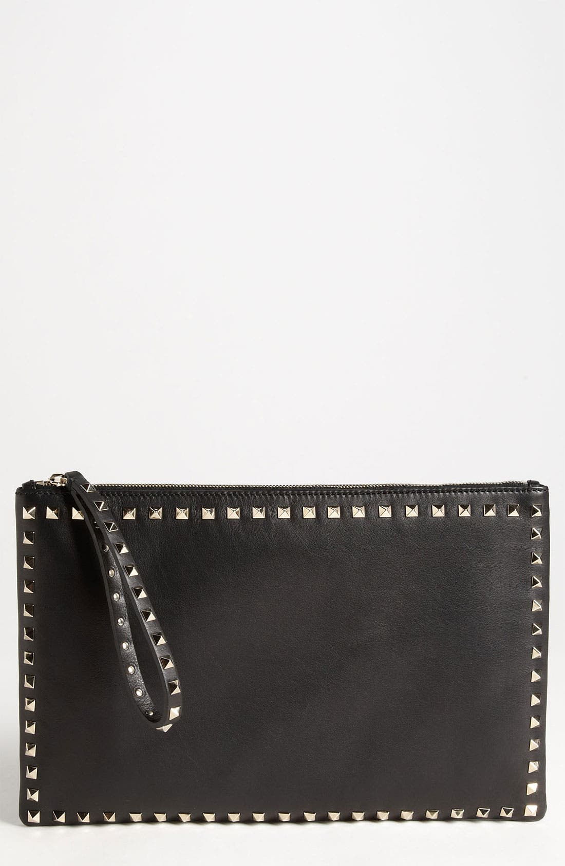 Alternate Image 1 Selected - Valentino 'Rockstud - Flat' Leather Clutch