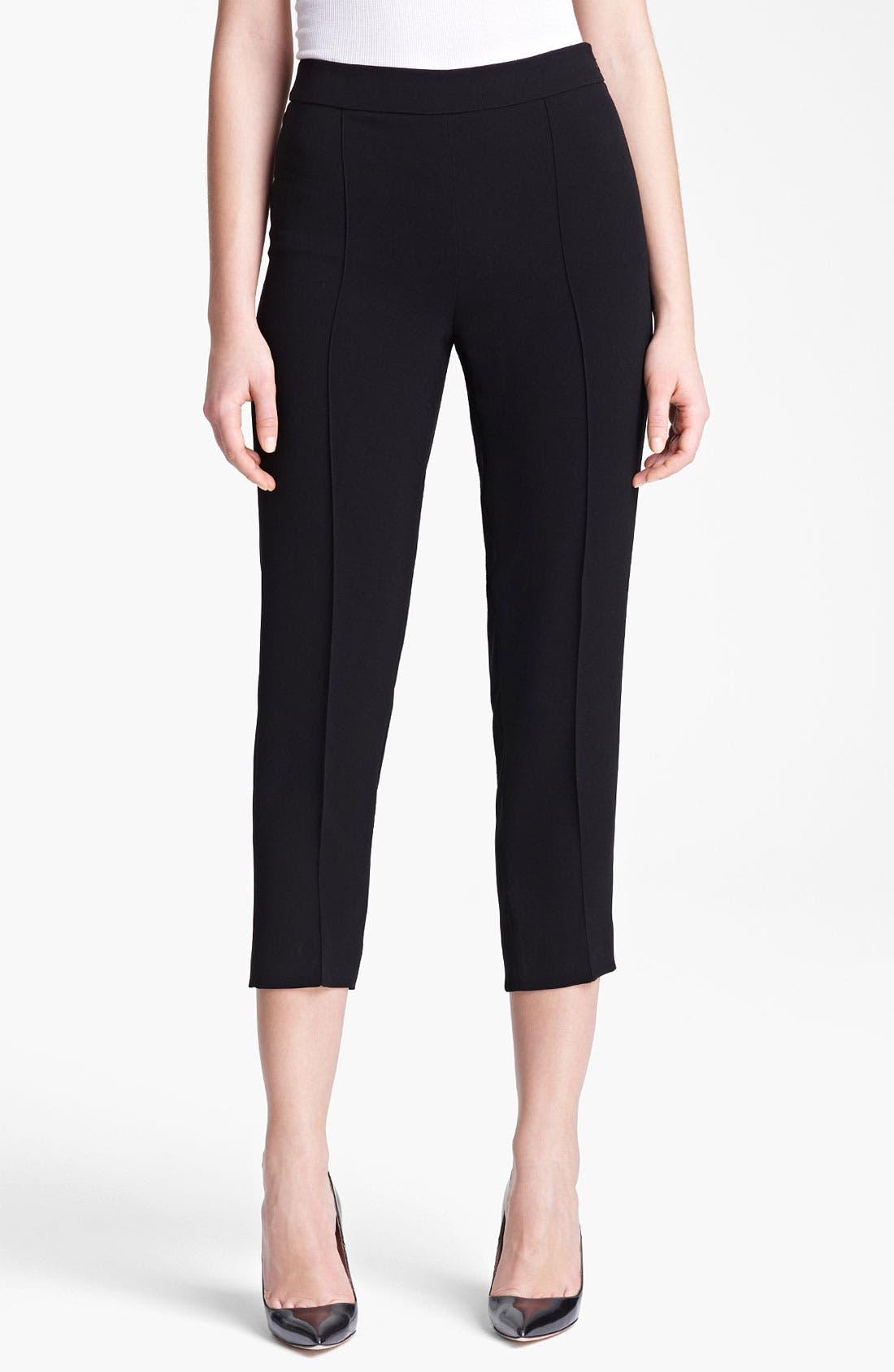Main Image - Max Mara Side Zip Crop Pants
