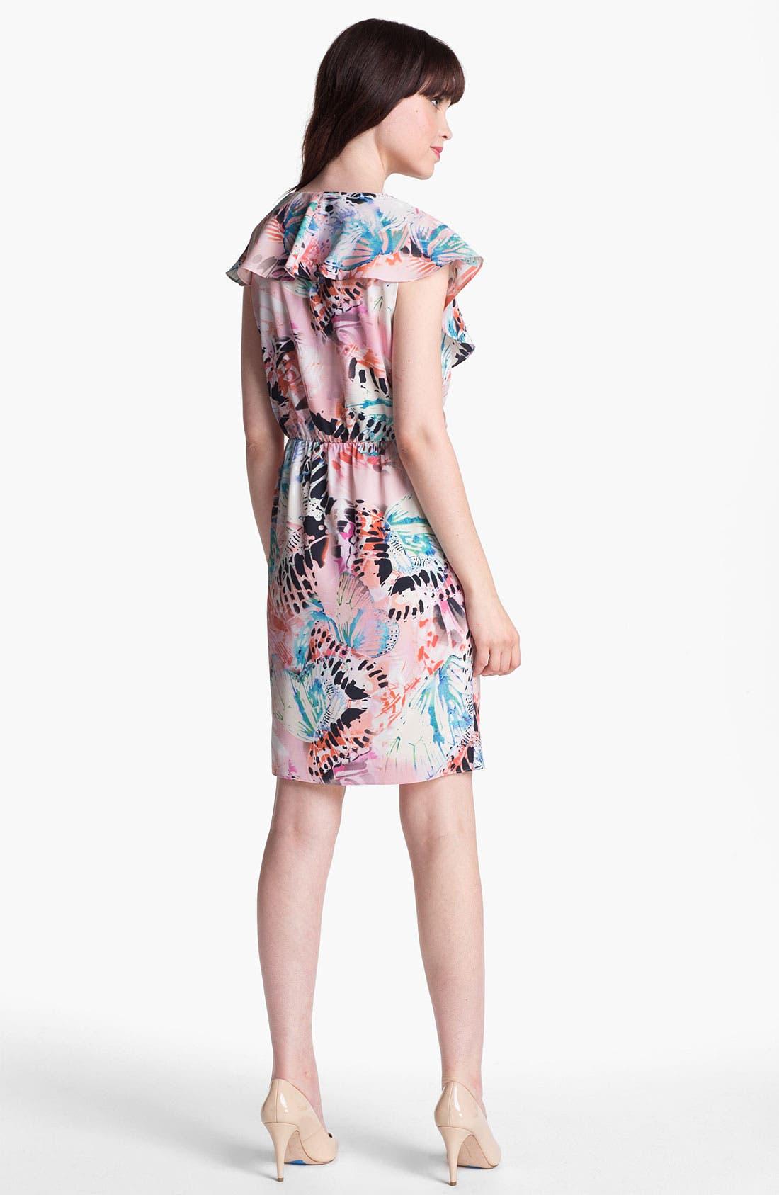 Alternate Image 2  - Presley Skye Ruffled Faux Wrap Dress