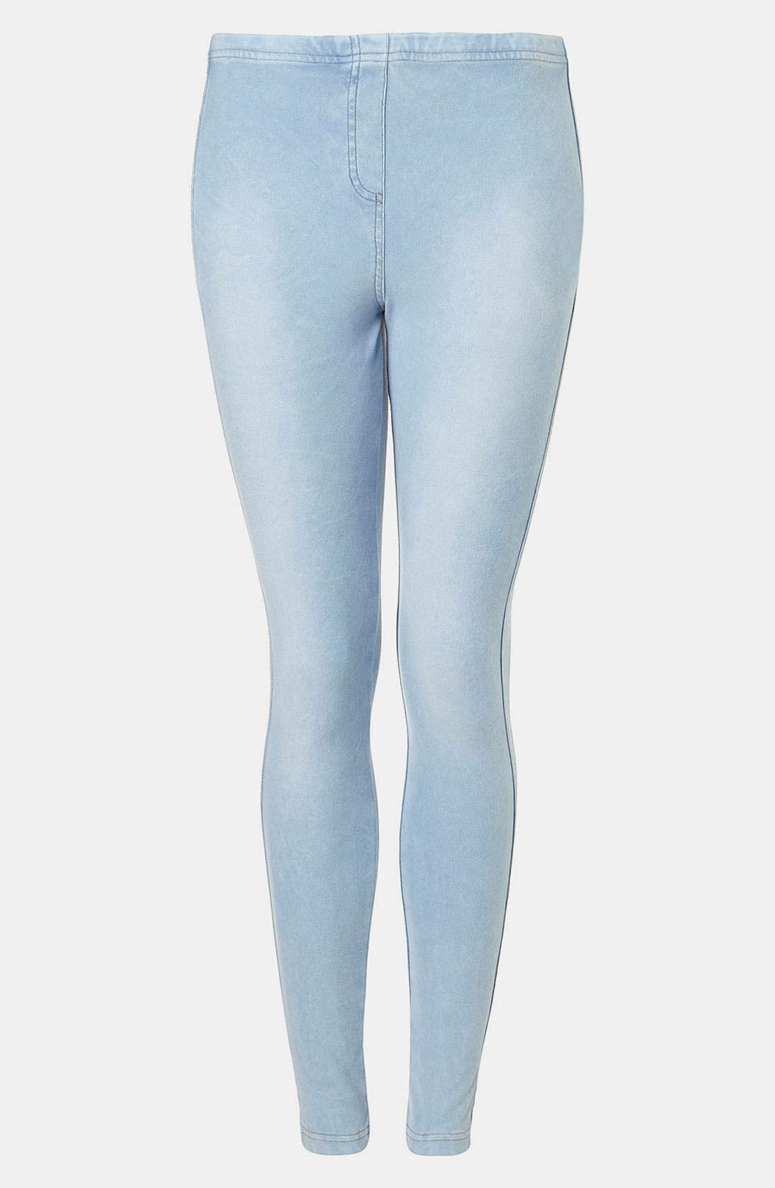 Alternate Image 1 Selected - Topshop Bleach-Wash Denim Leggings