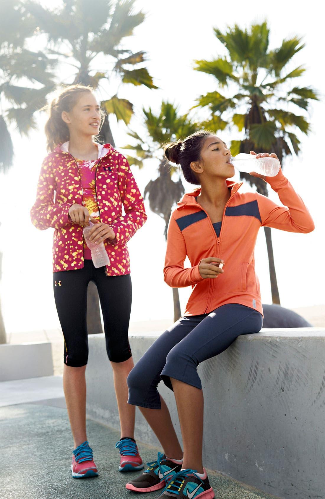 Alternate Image 2  - Zella 'Trainer' Contrast Jacket (Little Girls & Big Girls)