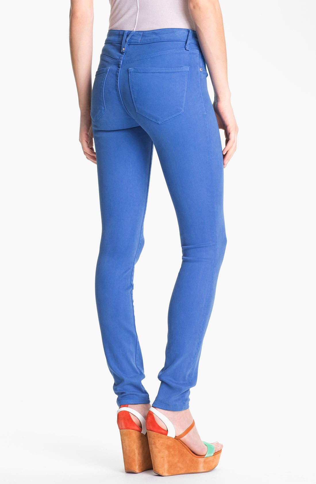 Alternate Image 2  - MARC BY MARC JACOBS 'Stick' Colored Skinny Jeans (Electric Blue Lemonade)