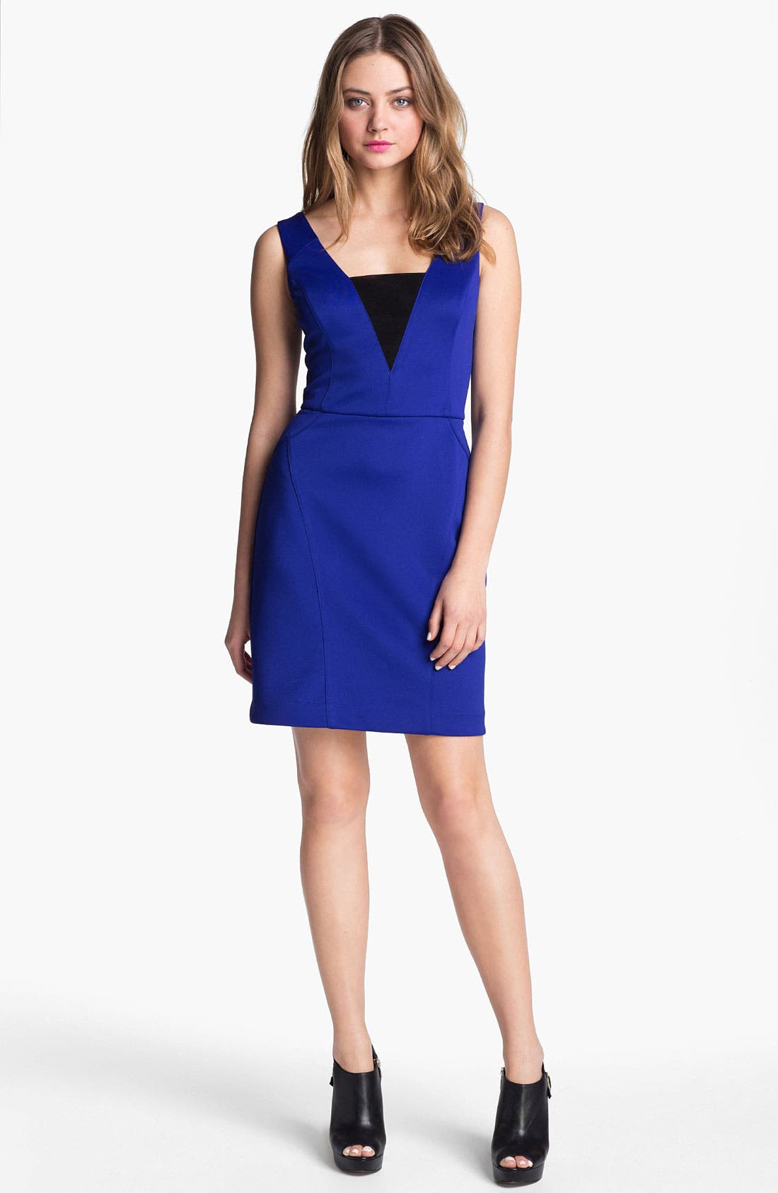 Alternate Image 1 Selected - Betsey Johnson Cross Back Sheath Dress