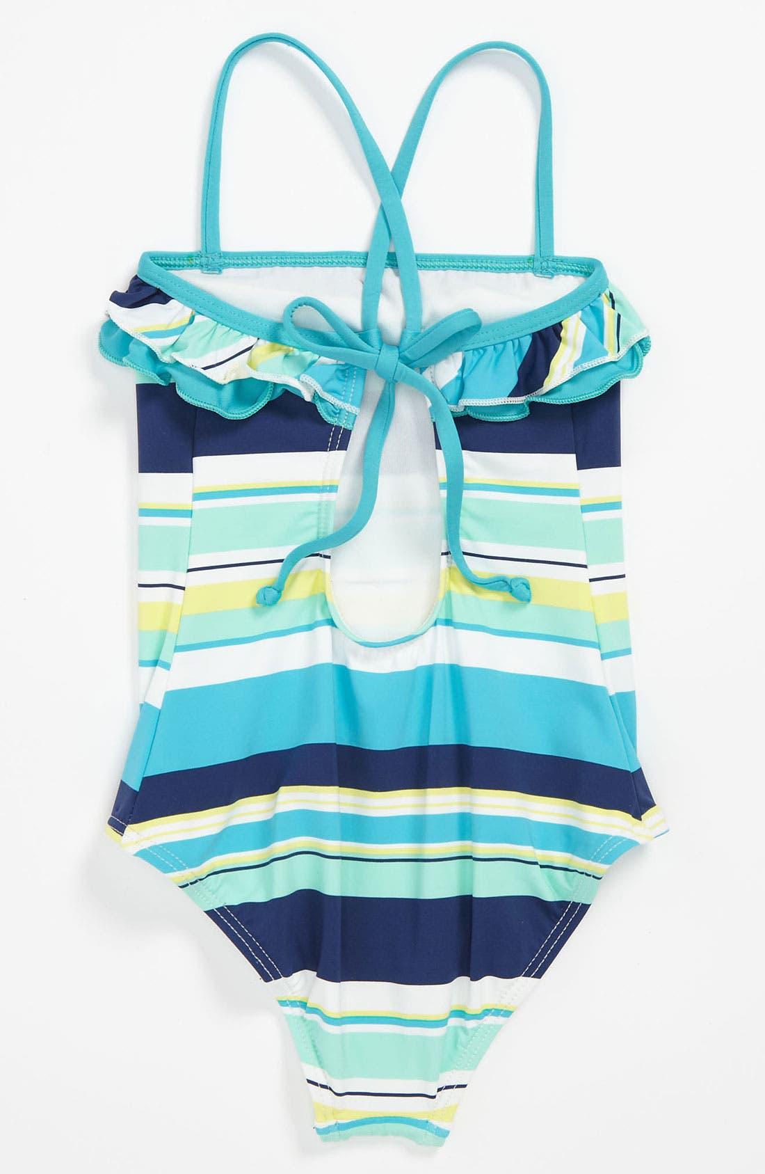 Alternate Image 2  - Splendid Stripe One Piece Swimsuit (Little Girls)