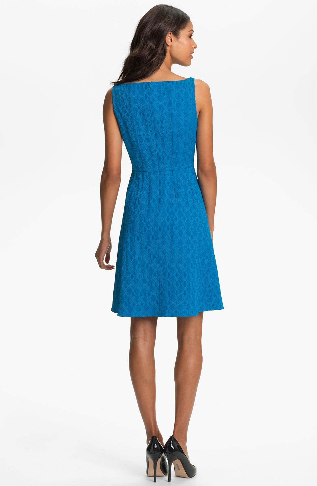 Alternate Image 2  - Adrianna Papell Jacquard Fit & Flare Dress