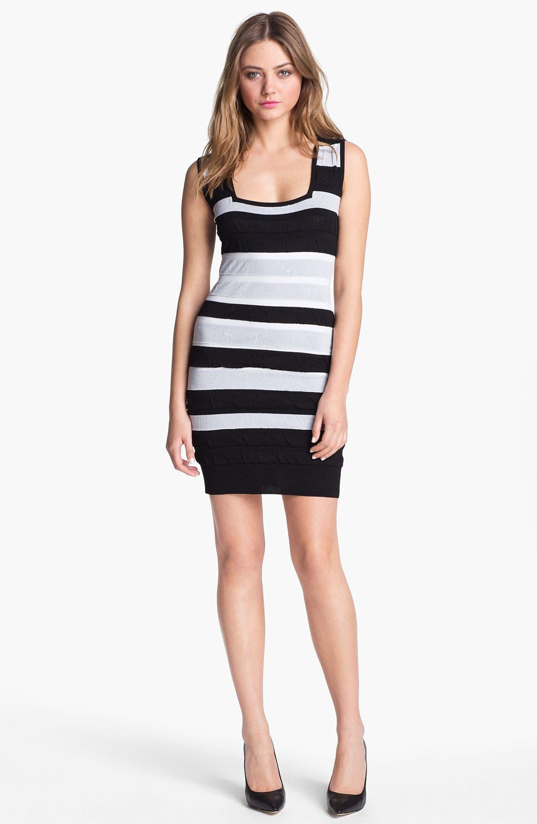 Main Image - Nicole Miller Textured Stripe Tank Dress