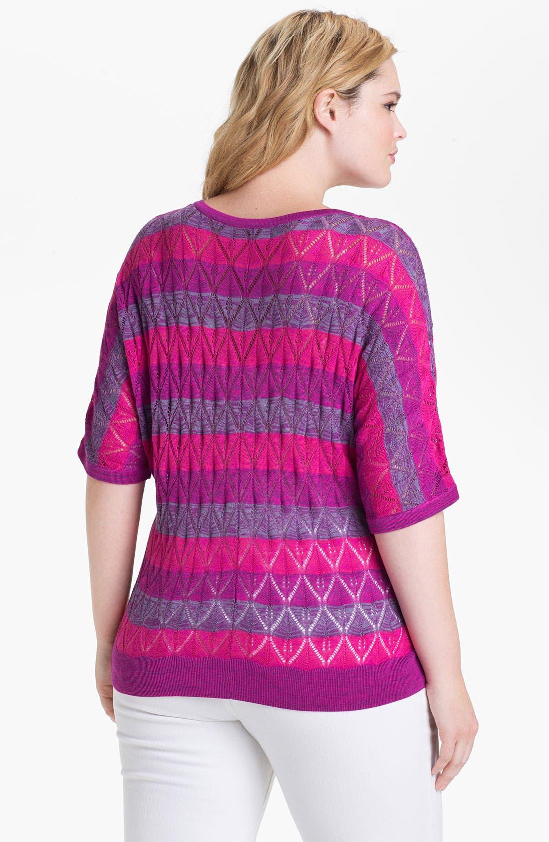 Alternate Image 2  - Sejour Stripe Sweater (Plus Size)