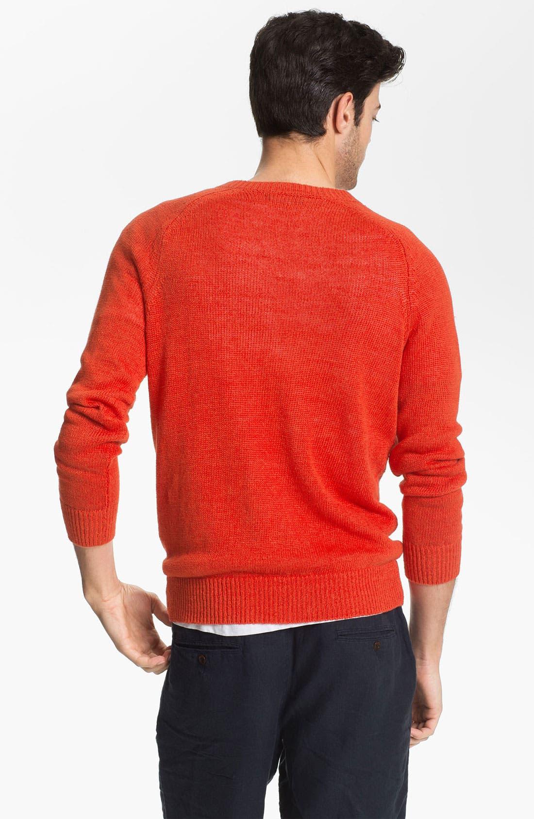 Alternate Image 2  - Vince Linen V-Neck Sweater