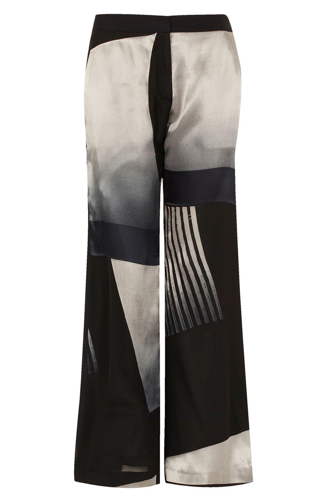 Main Image - Topshop Unique Wide Leg Silk Pants