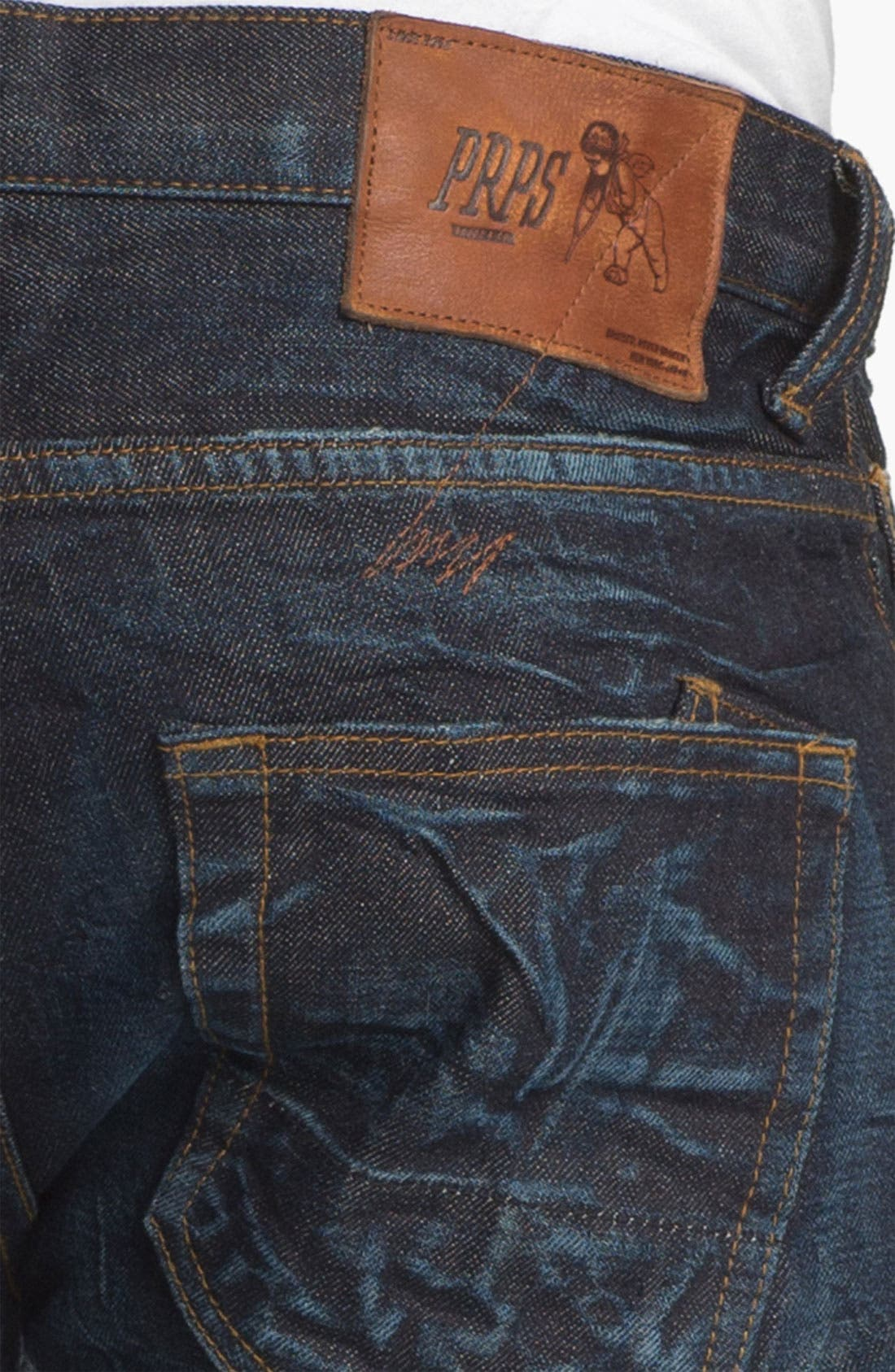 Alternate Image 4  - PRPS 'Rambler' Slim Fit Selvedge Jeans (6 Month)
