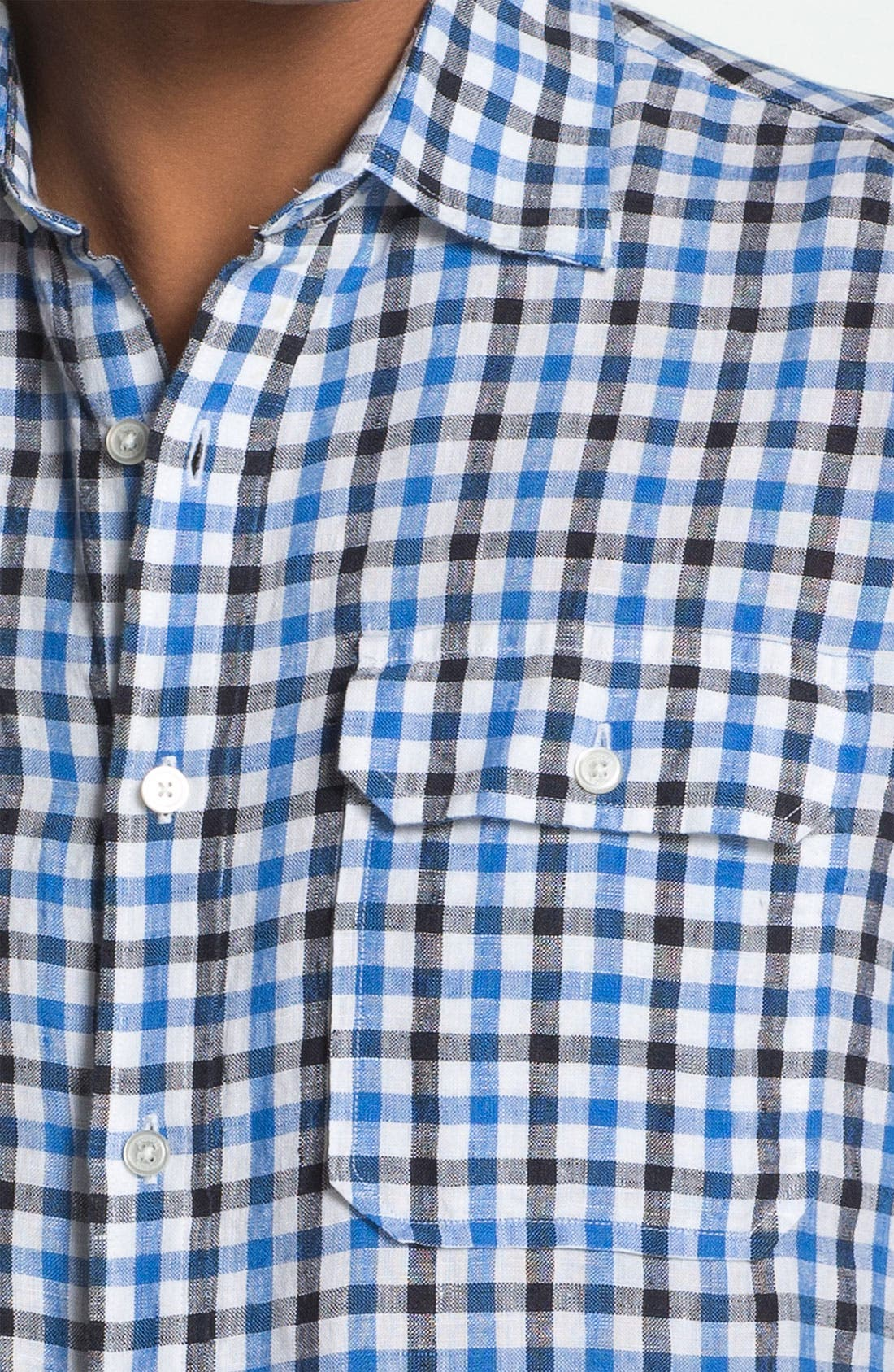 Alternate Image 3  - Michael Kors 'Percy Check' Tailored Fit Sport Shirt