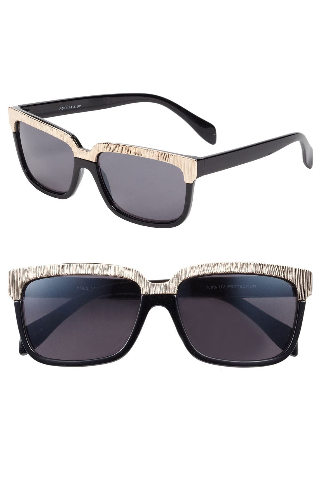 Alternate Image 1 Selected - Fantas Eyes Leopard Trim Sunglasses
