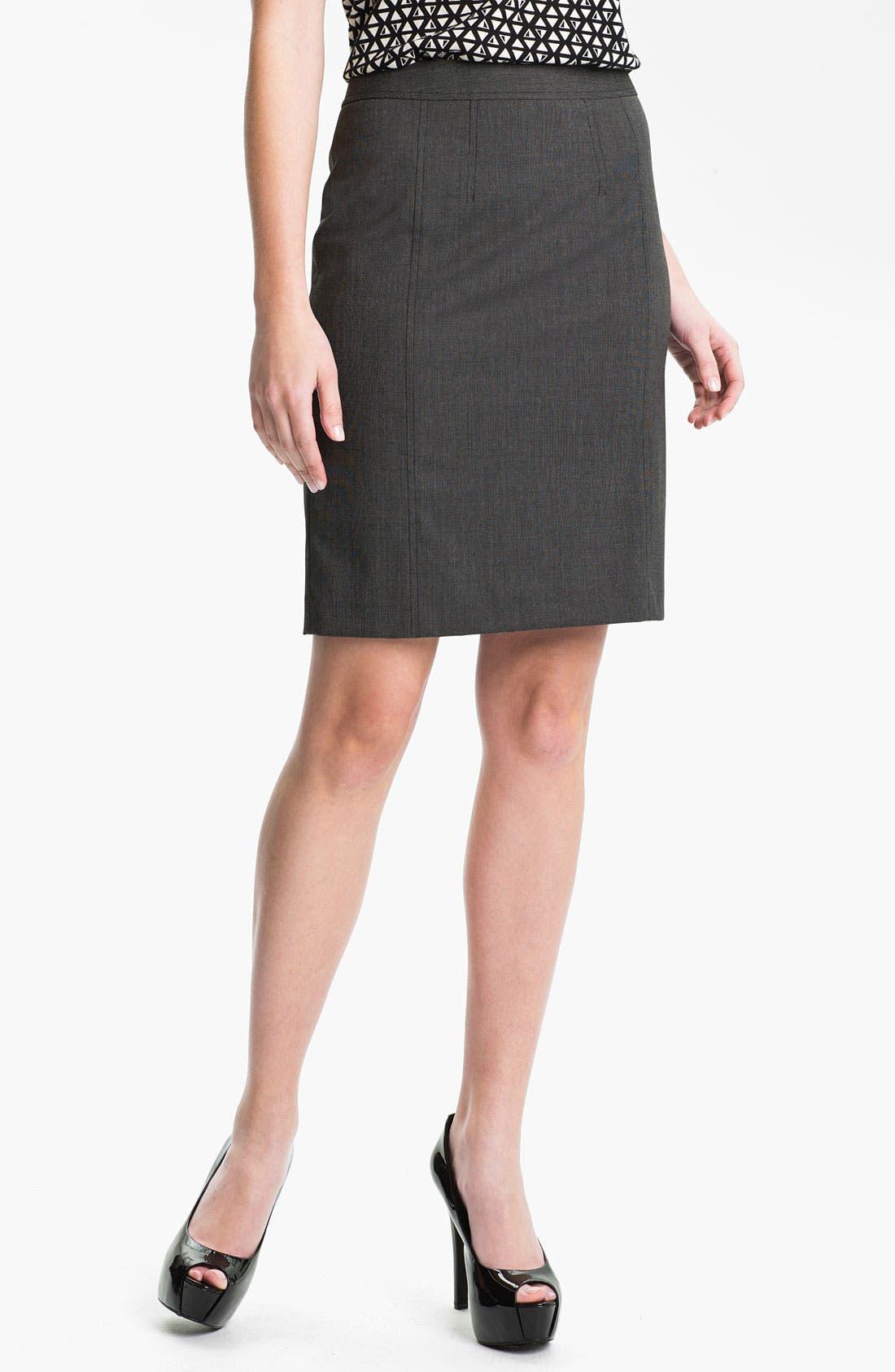 Alternate Image 1 Selected - Halogen® 'End on End' Skirt (Petite)