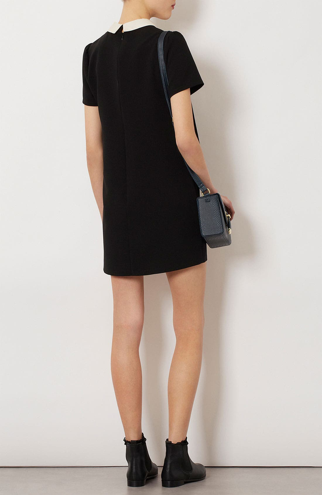 Alternate Image 3  - Topshop Contrast Collar Shift Dress