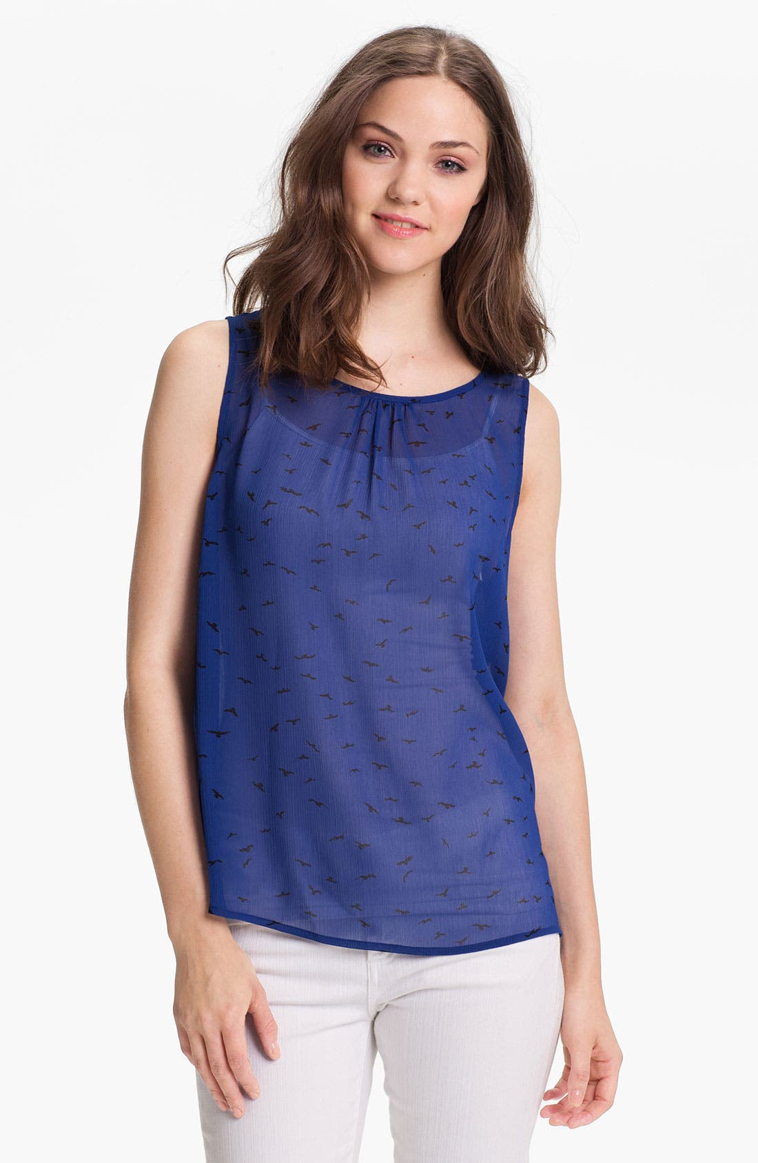 Alternate Image 1 Selected - Caslon® Envelope Back Woven Tank